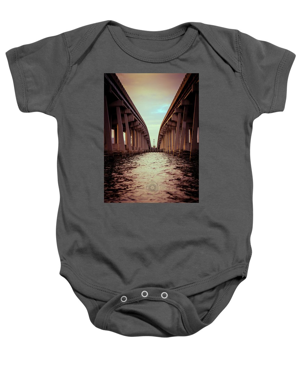 Photography Baby Onesie featuring the photograph The Bridge by Gaddeline Figueroa