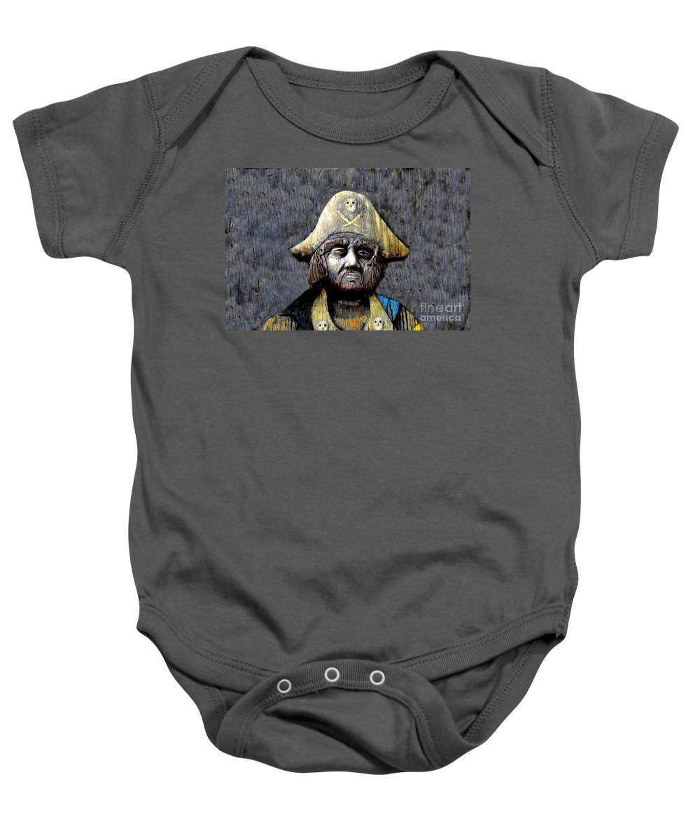 Buccaneer Baby Onesie featuring the painting The Buccaneer by David Lee Thompson