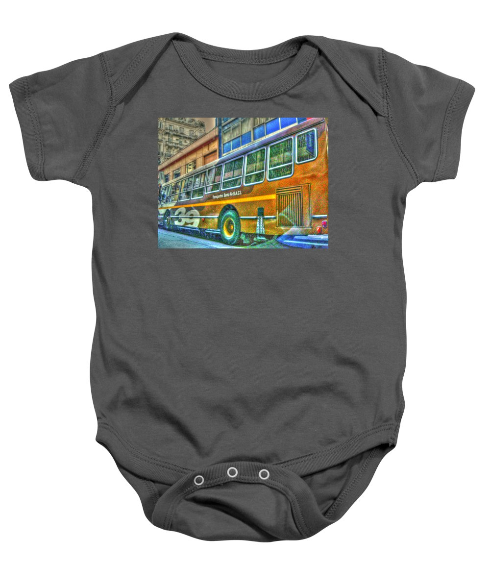 Bus Baby Onesie featuring the photograph The Bus by Francisco Colon