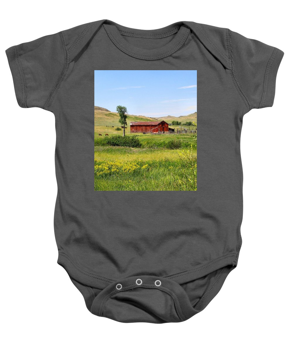 Montana Baby Onesie featuring the photograph The Color Of Montana by Susan Kinney