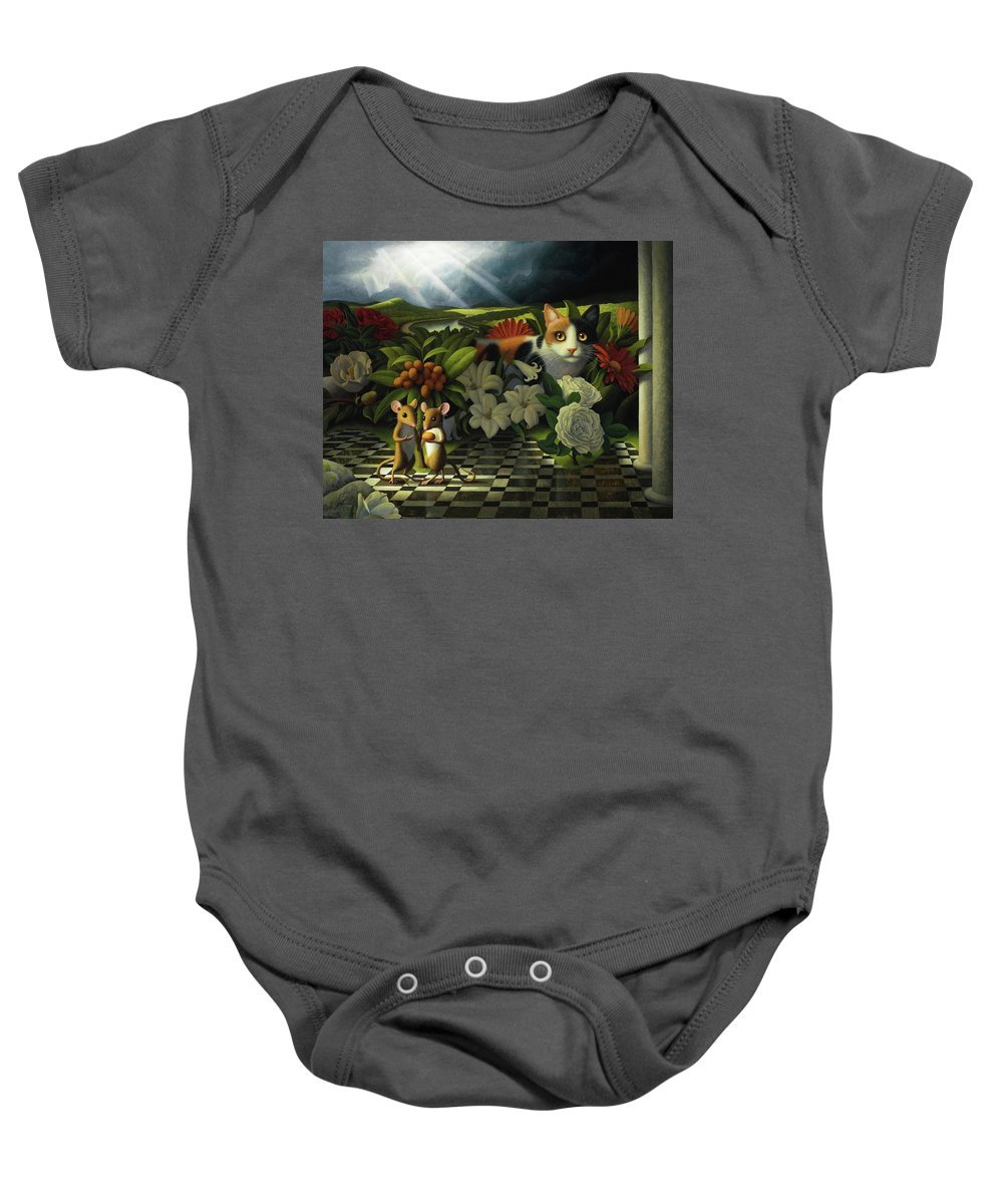 Mice Baby Onesie featuring the painting The Coming Storm by Chris Miles