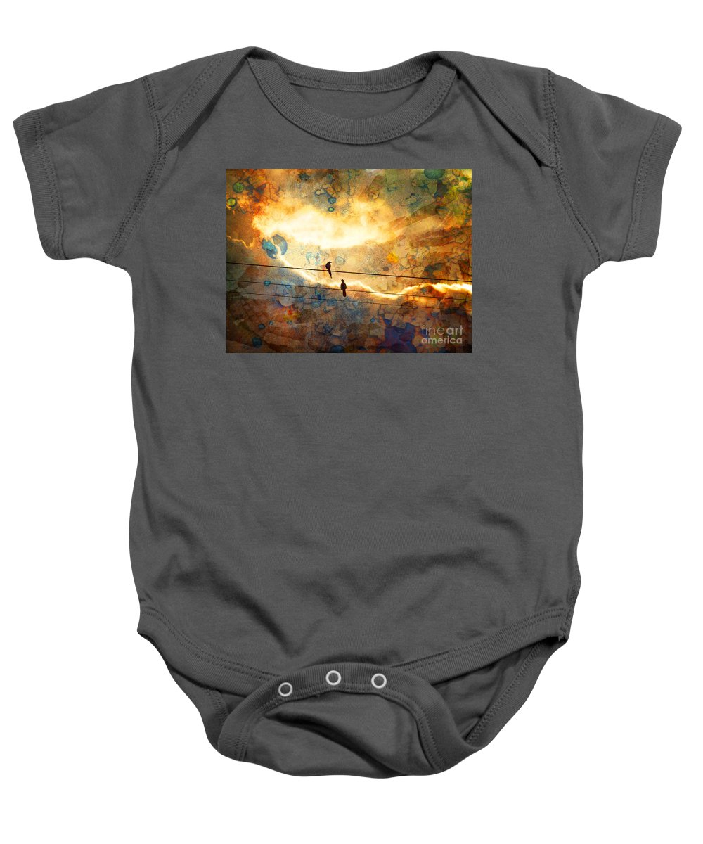 Texture Baby Onesie featuring the photograph The Conversation by Tara Turner