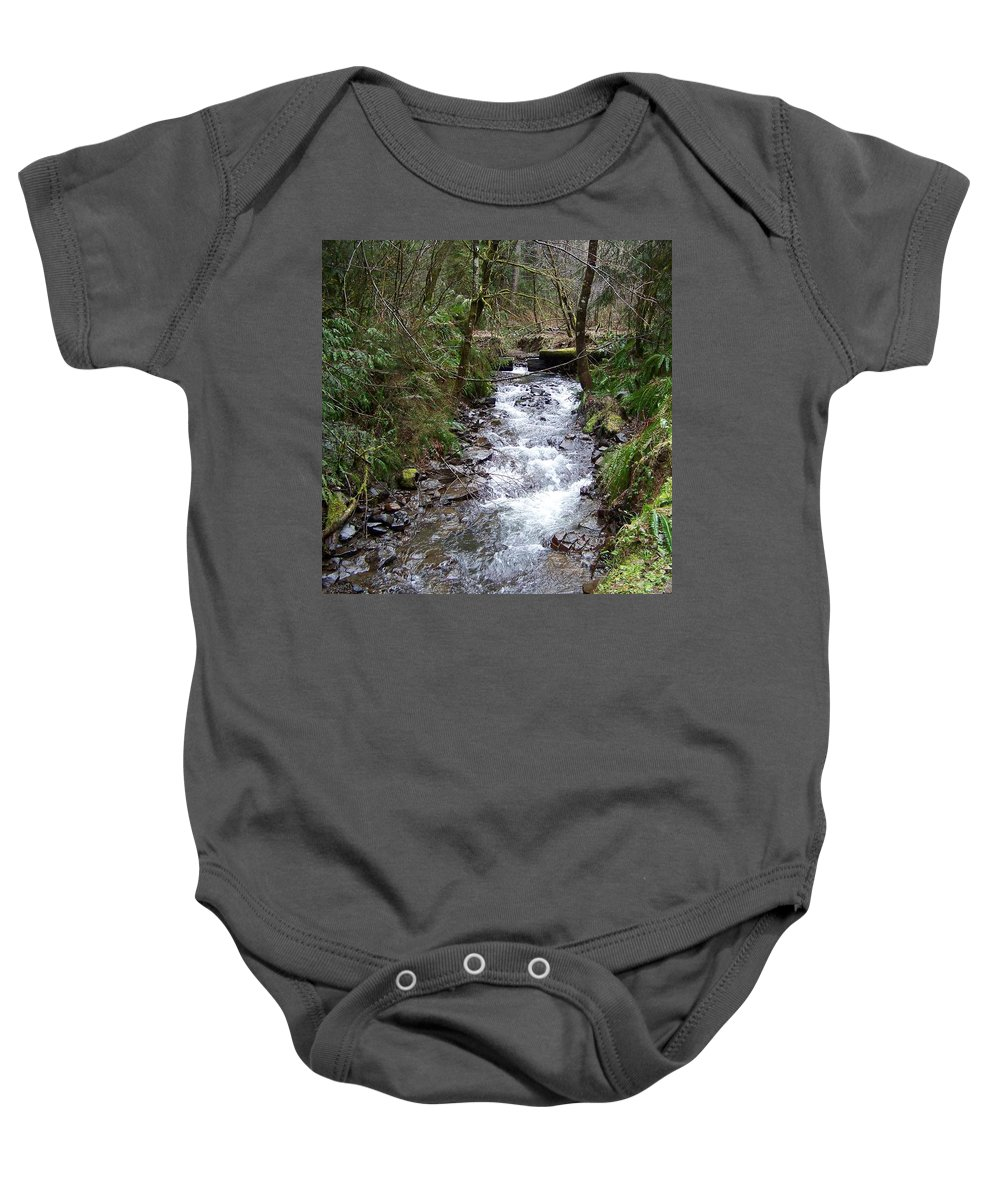 Digital Photography Baby Onesie featuring the photograph The Creek by Laurie Kidd