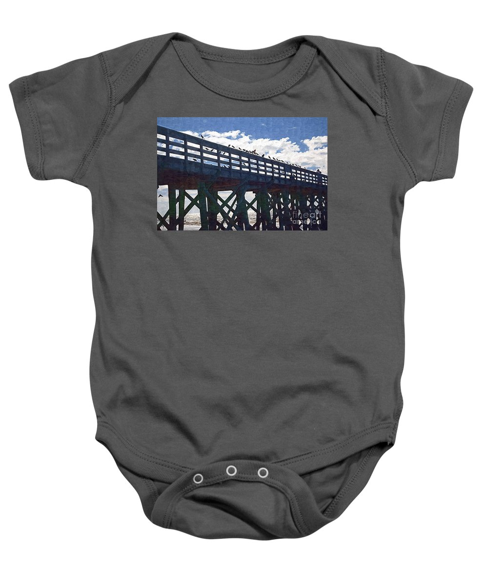 Crows Baby Onesie featuring the photograph The Crows Nest by Donna Bentley