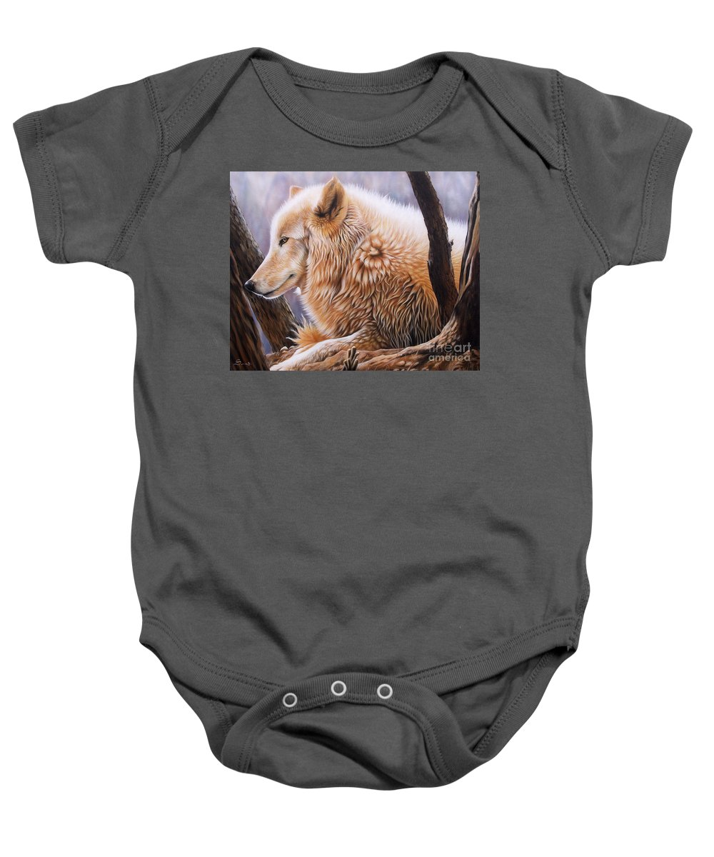 Acrylic Baby Onesie featuring the painting The Daystar by Sandi Baker