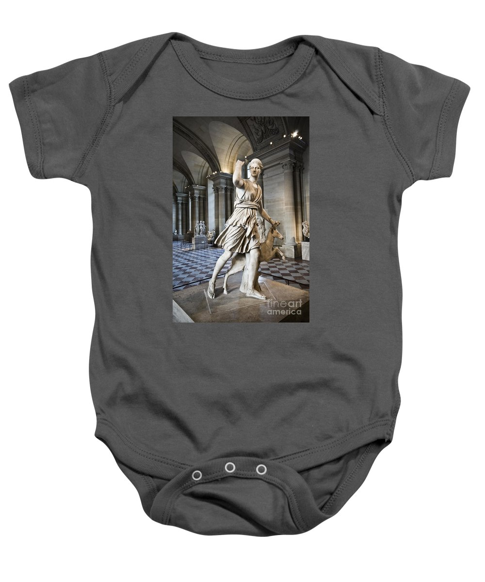 Baby Onesie featuring the photograph The Diana Of Versailles In The Louvre by Charuhas Images