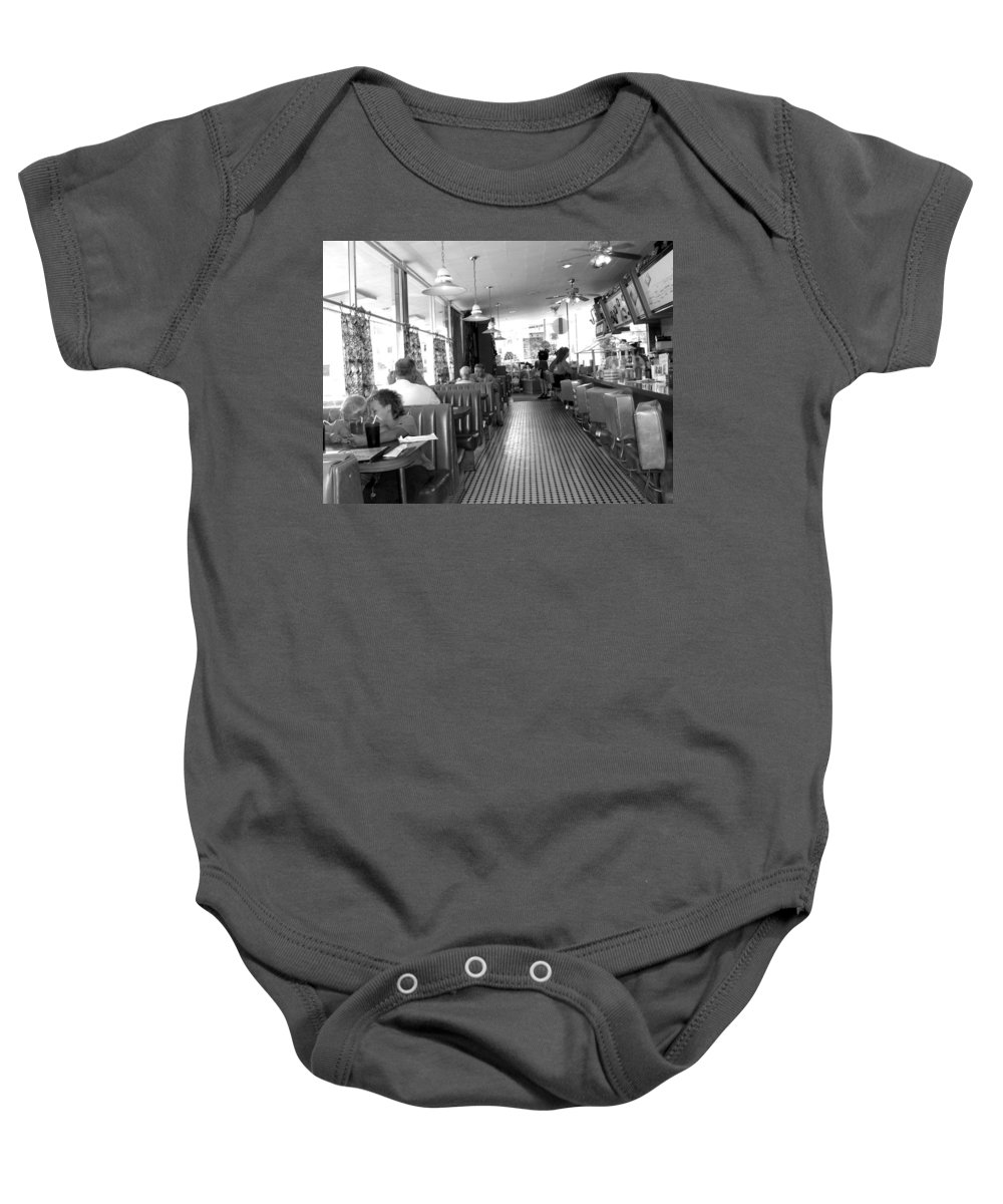 Diner Baby Onesie featuring the photograph The Diner by Wayne Potrafka