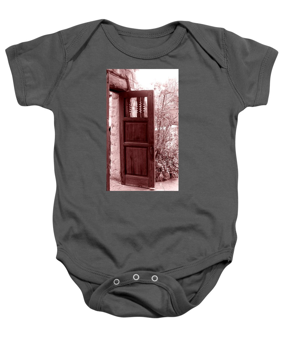 Door Baby Onesie featuring the photograph The Door by Wayne Potrafka