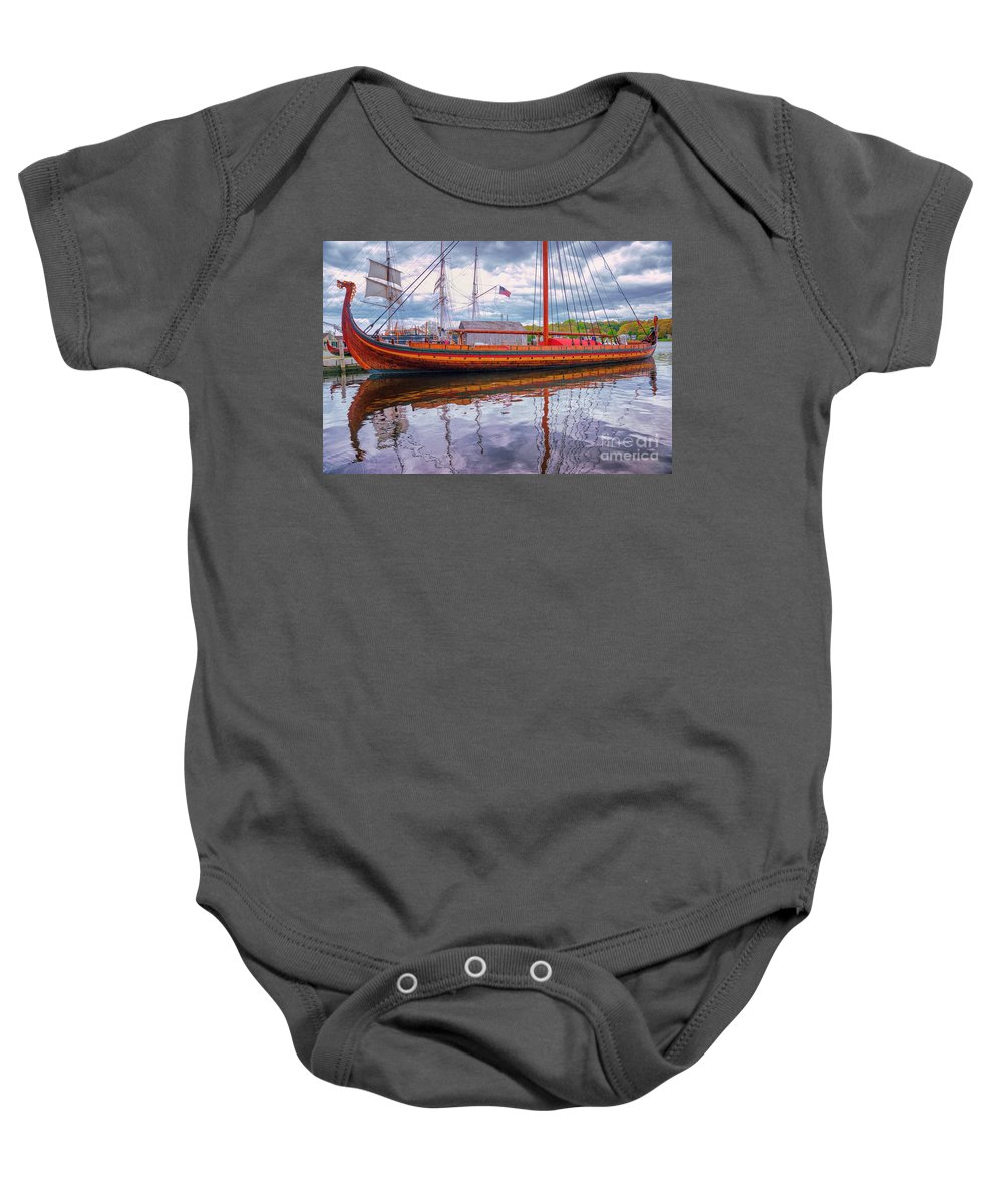 Ship Baby Onesie featuring the photograph The Draken 4 by Joe Geraci
