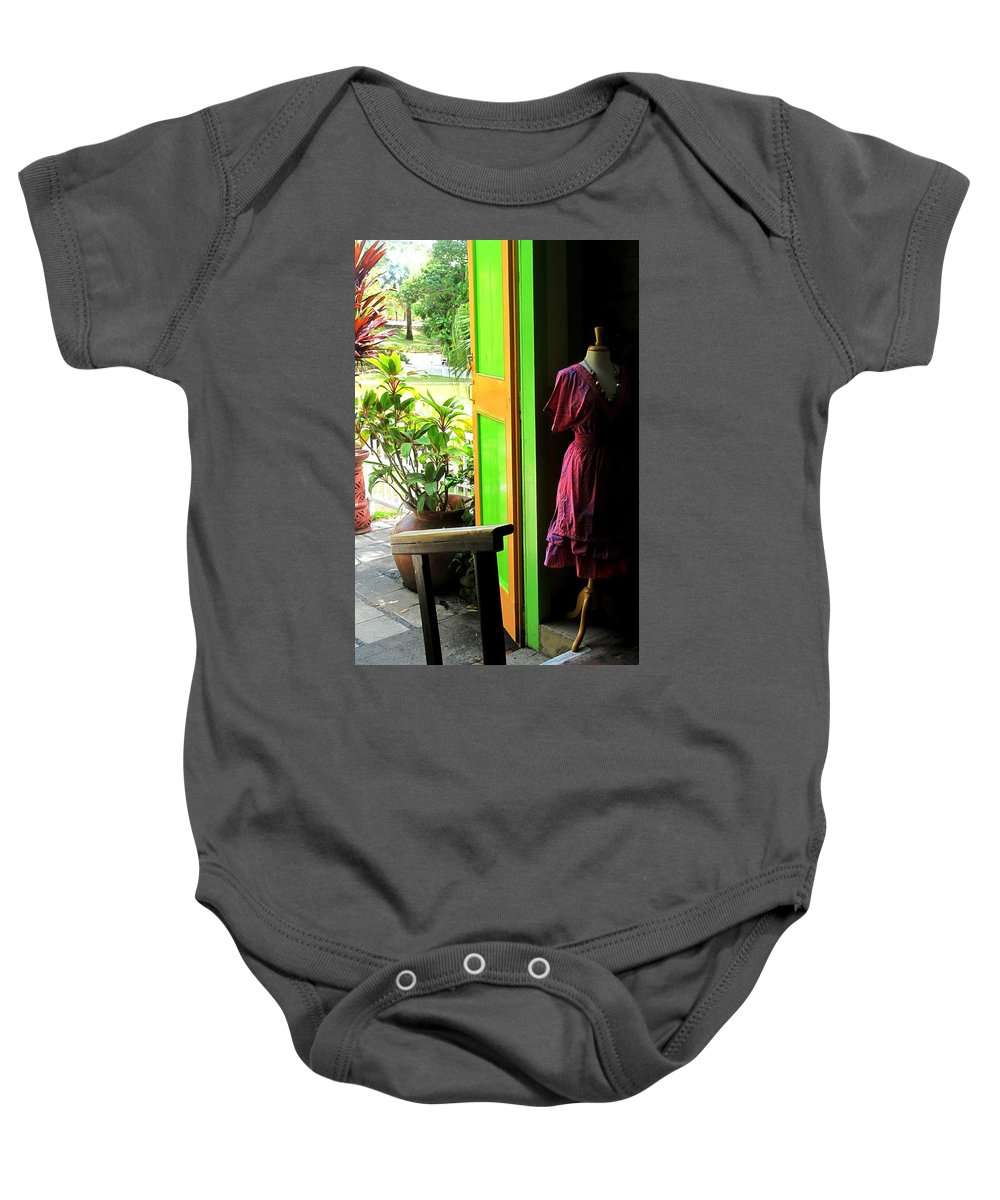 Dress Baby Onesie featuring the photograph The Dress Store by Ian MacDonald
