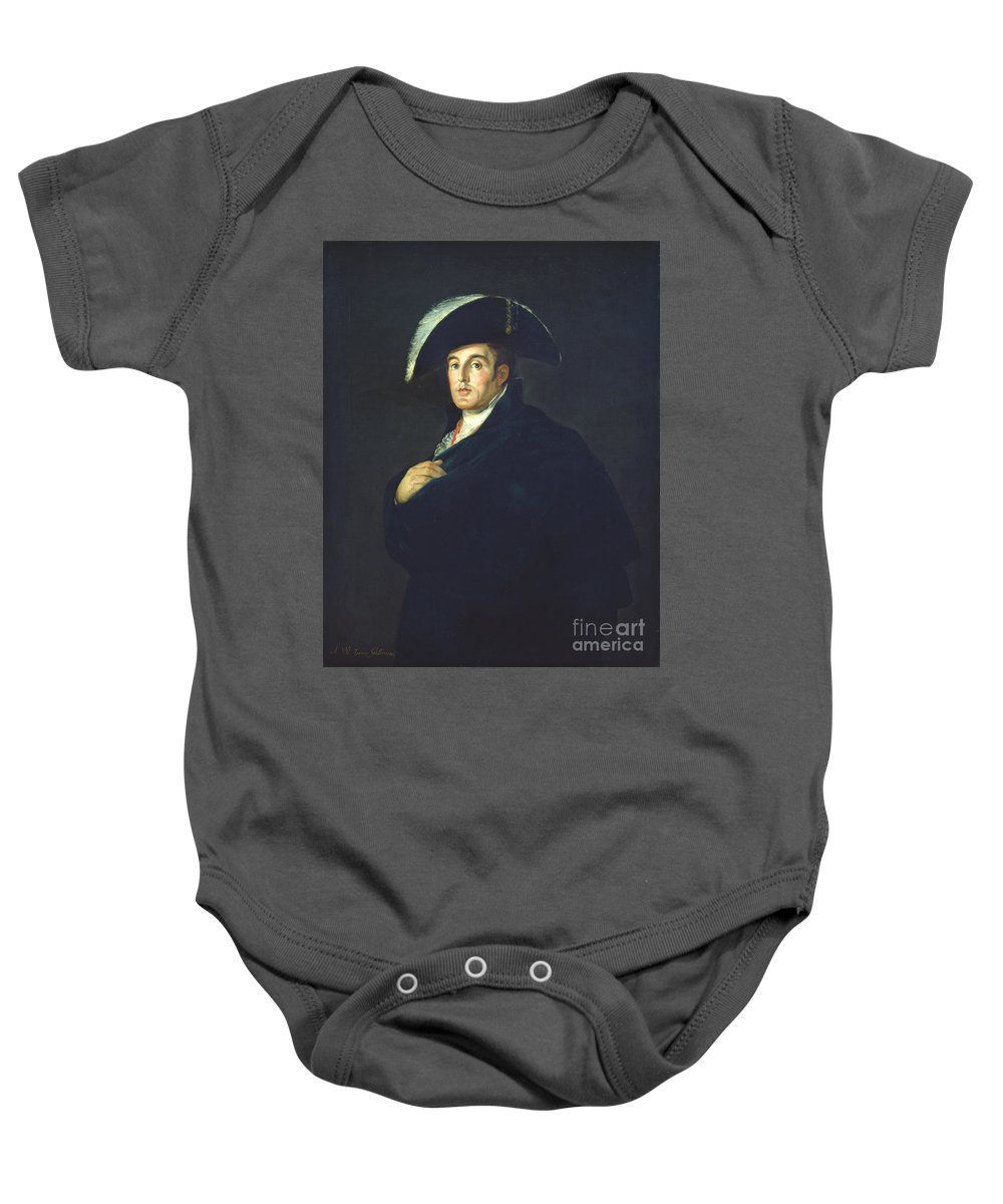 Baby Onesie featuring the painting The Duke Of Wellington by Workshop Of Francisco De Goya