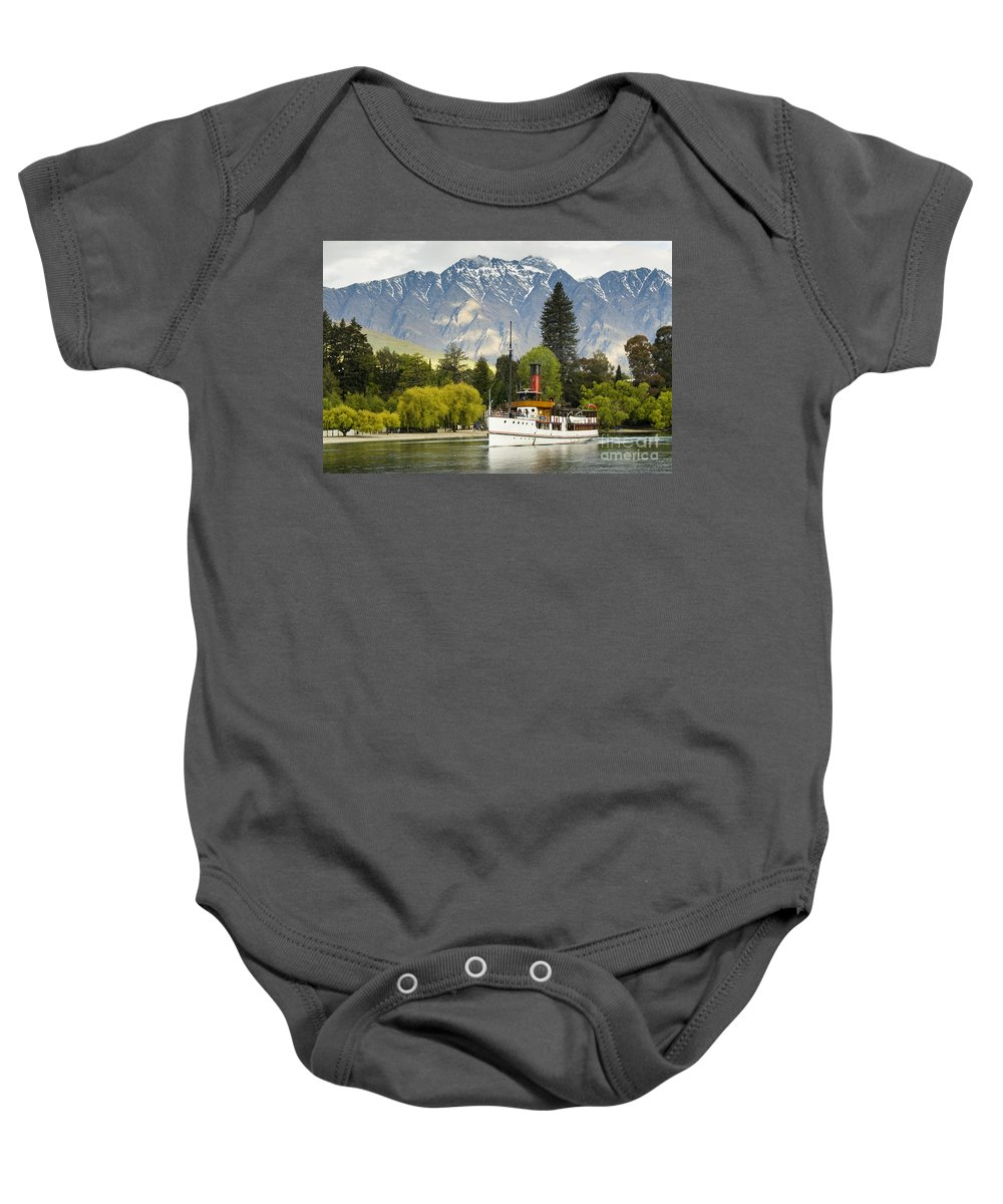 Mountain Baby Onesie featuring the photograph The Earnslaw by Werner Padarin