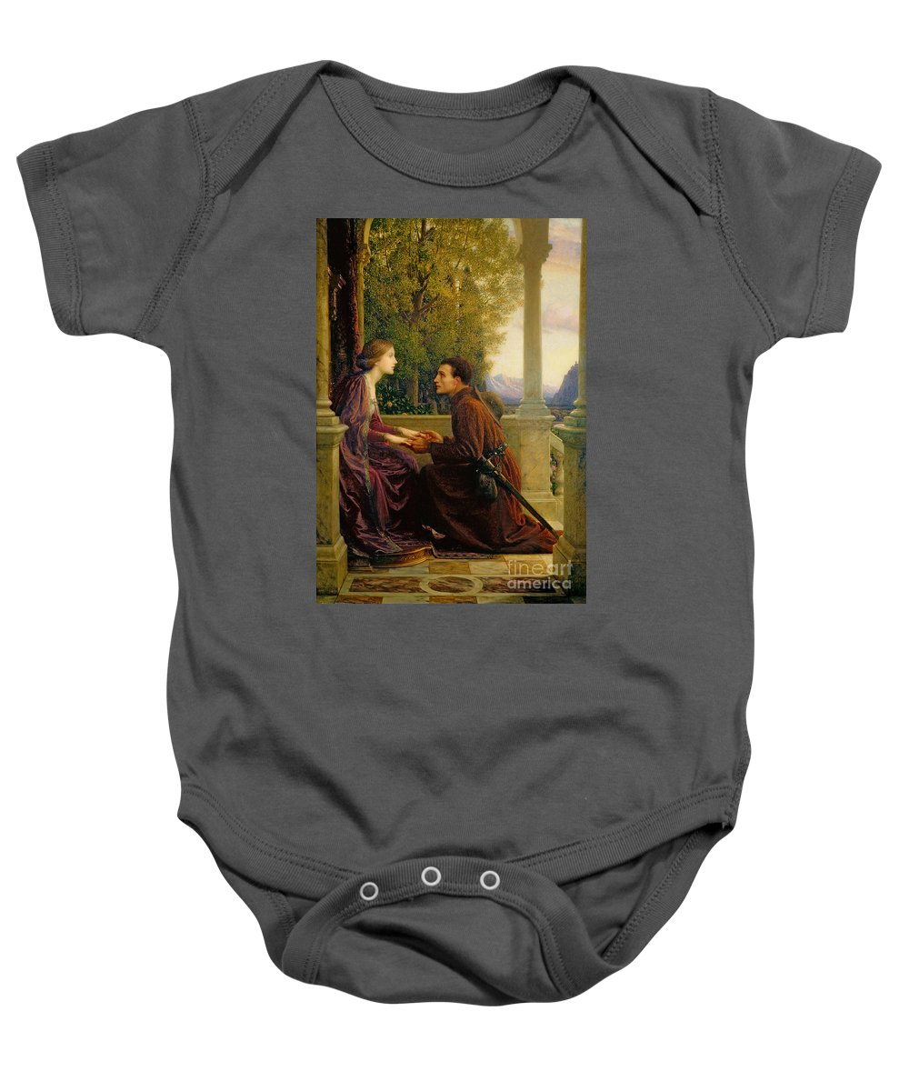 The Baby Onesie featuring the painting The End Of The Quest by Sir Frank Dicksee