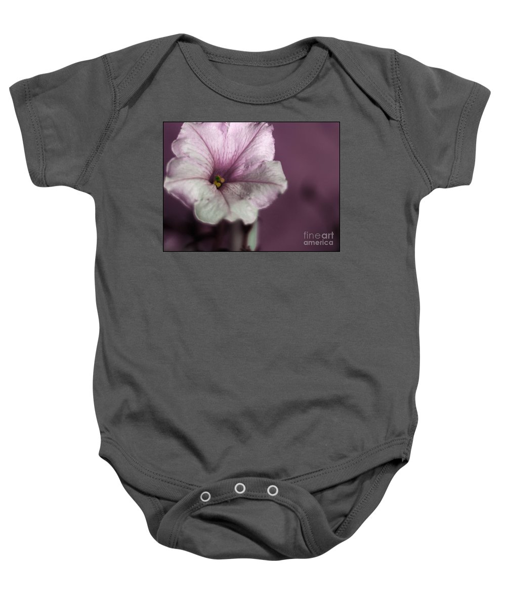 Petunia Baby Onesie featuring the photograph The Eye Is Green by James Hennis