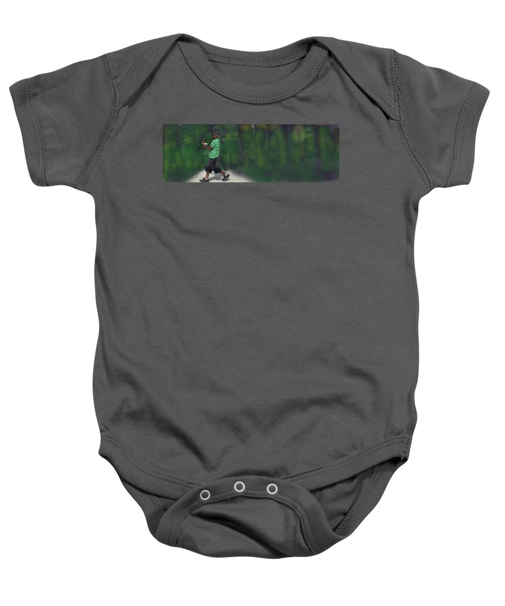 Boy Baby Onesie featuring the photograph The Flag And The Rose by Ian MacDonald