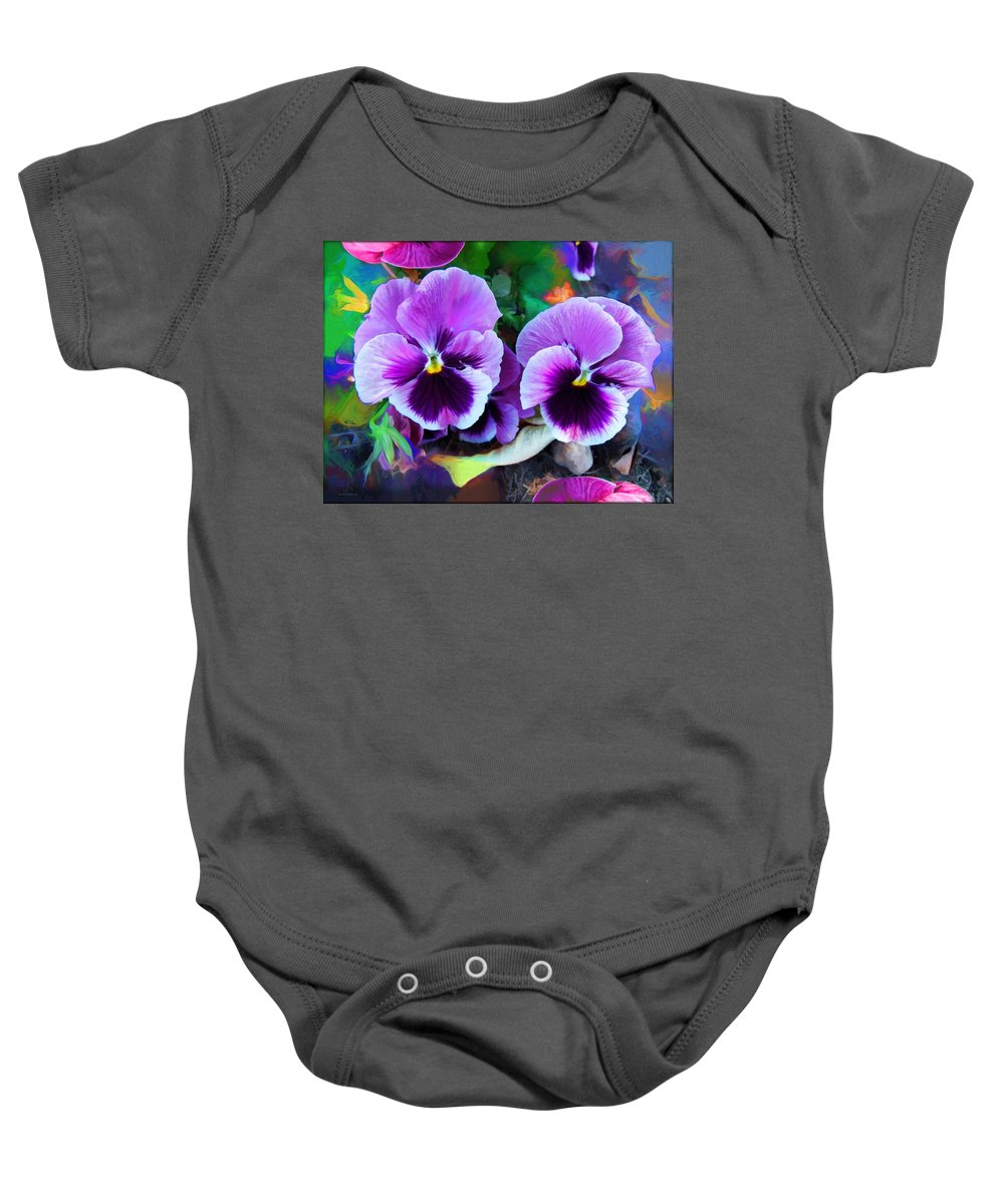 The Flowers Of Eleanor Baby Onesie featuring the photograph The Flowers Of Eleanor by Daniel Arrhakis
