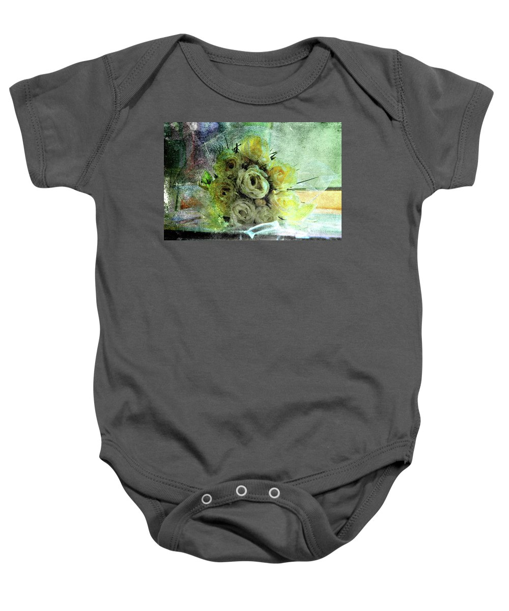 Forgotten Flowers Baby Onesie featuring the photograph The Forgotten Flowers by Susanne Van Hulst