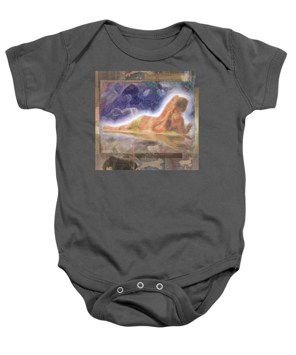 Vintage Baby Onesie featuring the digital art The Full Colors Of My Soul by Andrea Ribeiro