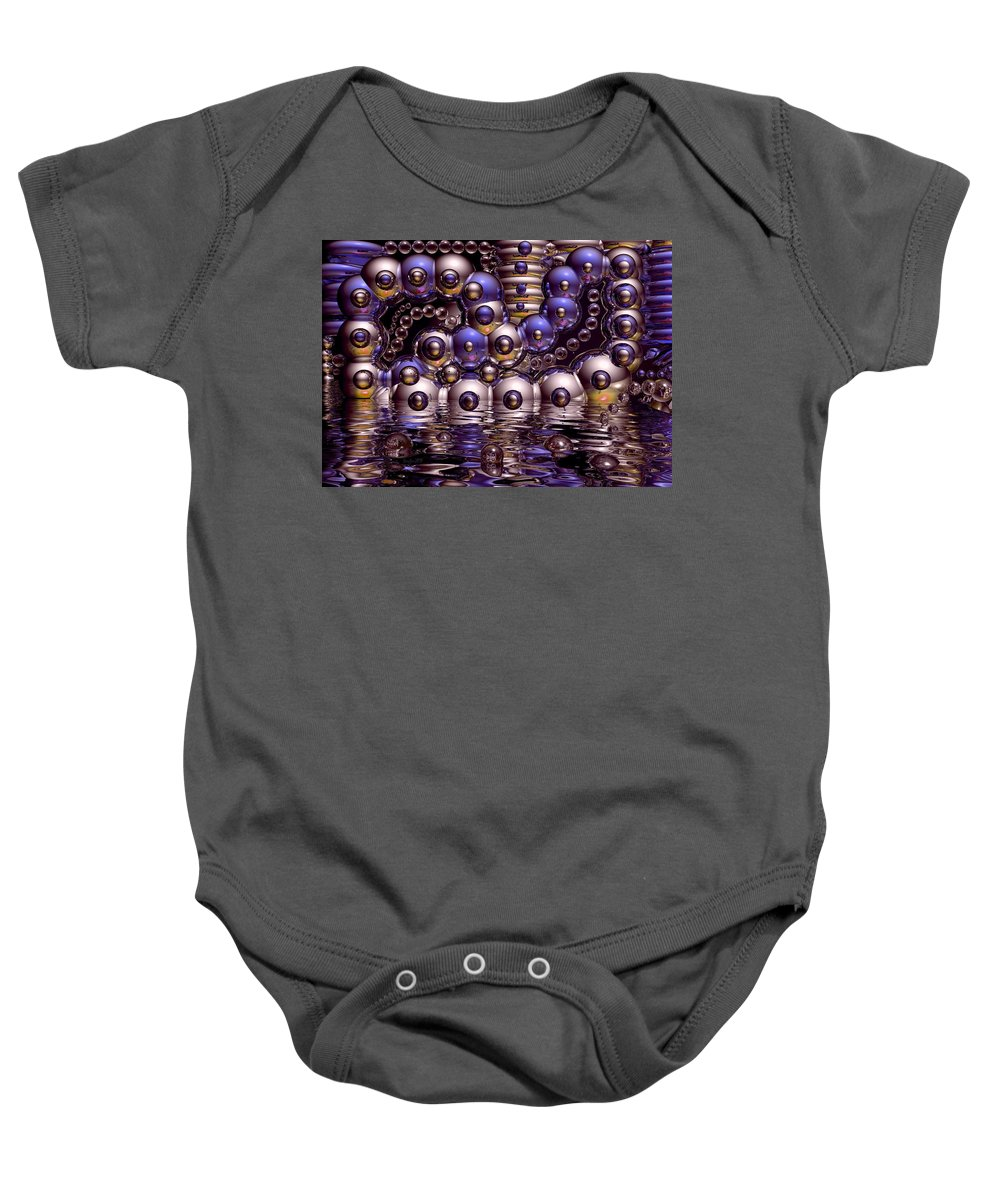 Bubble Baby Onesie featuring the digital art The Fun Factory by Robert Orinski