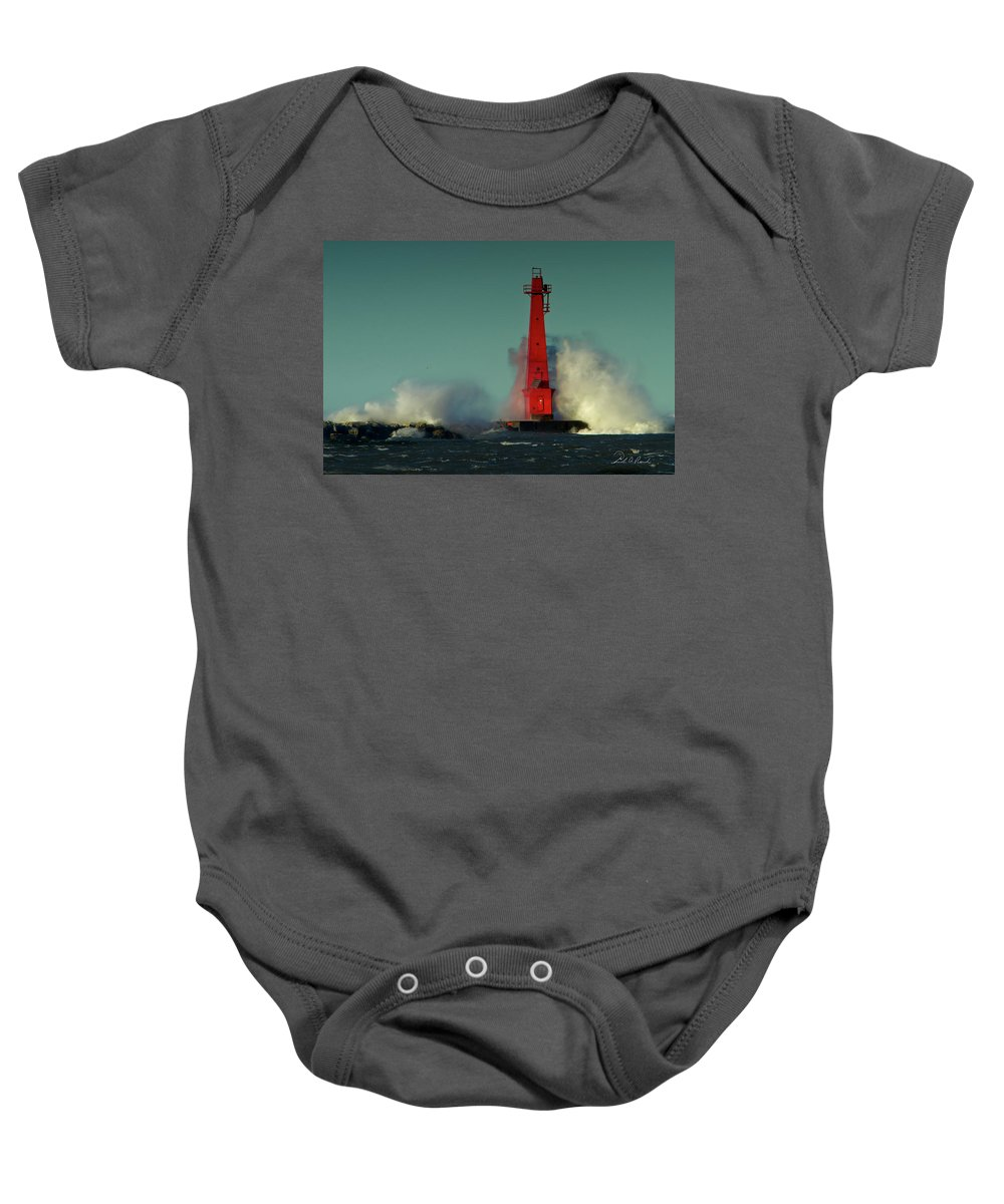 Photography Baby Onesie featuring the photograph The Gale Of October II by Frederic A Reinecke