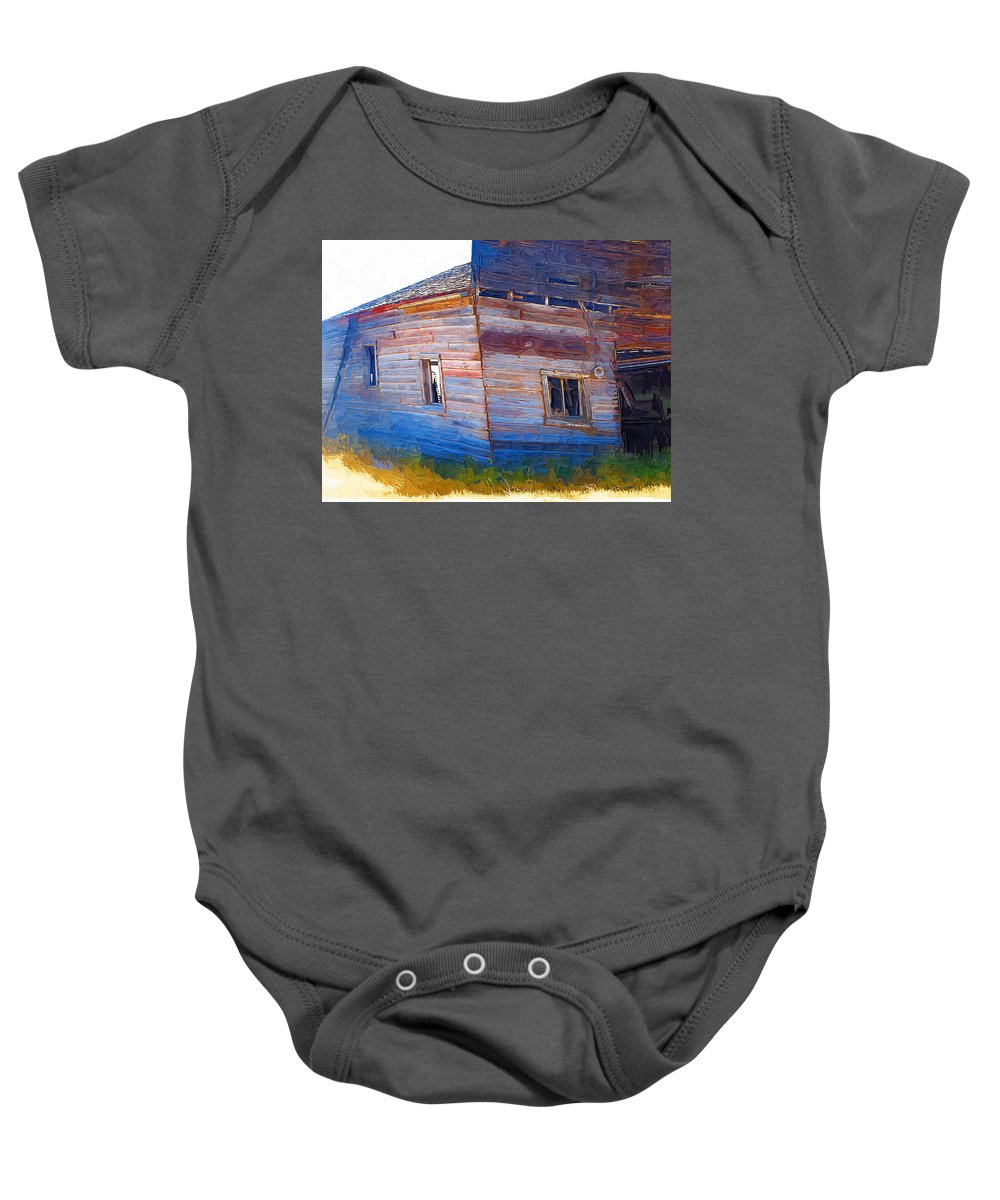 Window Baby Onesie featuring the photograph The Garage by Susan Kinney