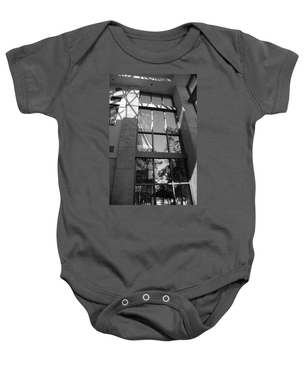 Sun Baby Onesie featuring the photograph The Glass Window by Rob Hans