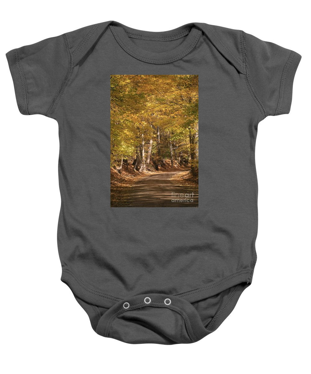 Golden Baby Onesie featuring the photograph The Golden Road by Robert Pearson