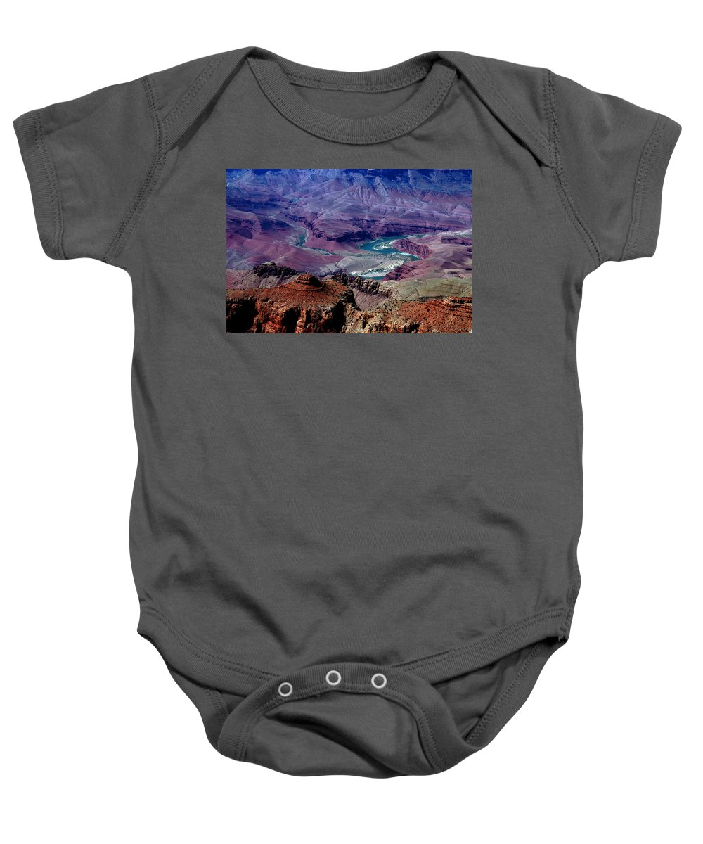 Photography Baby Onesie featuring the photograph The Grand Canyon by Susanne Van Hulst