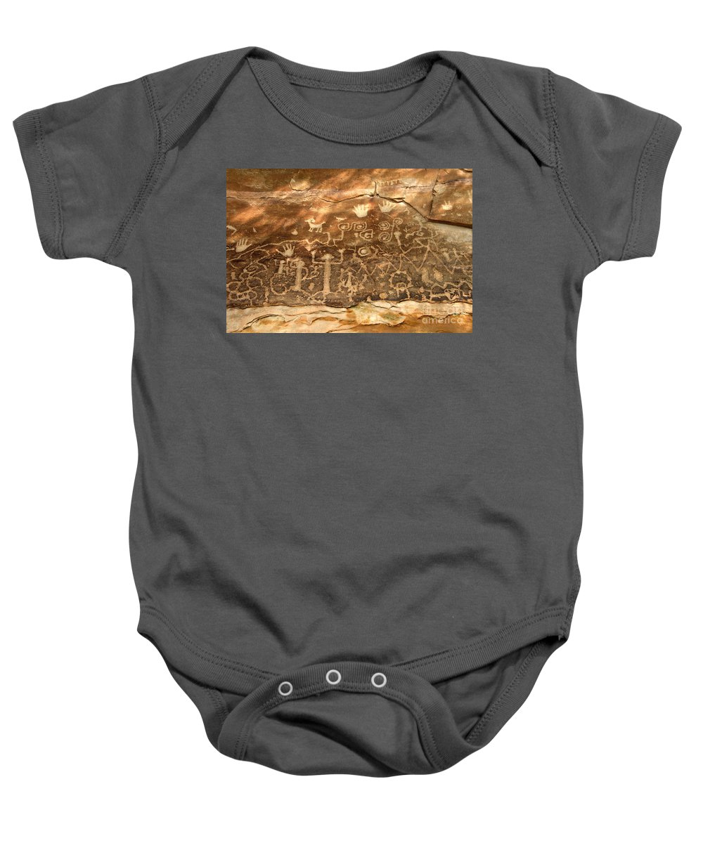 Anasazi Baby Onesie featuring the photograph The Great Panel by David Lee Thompson