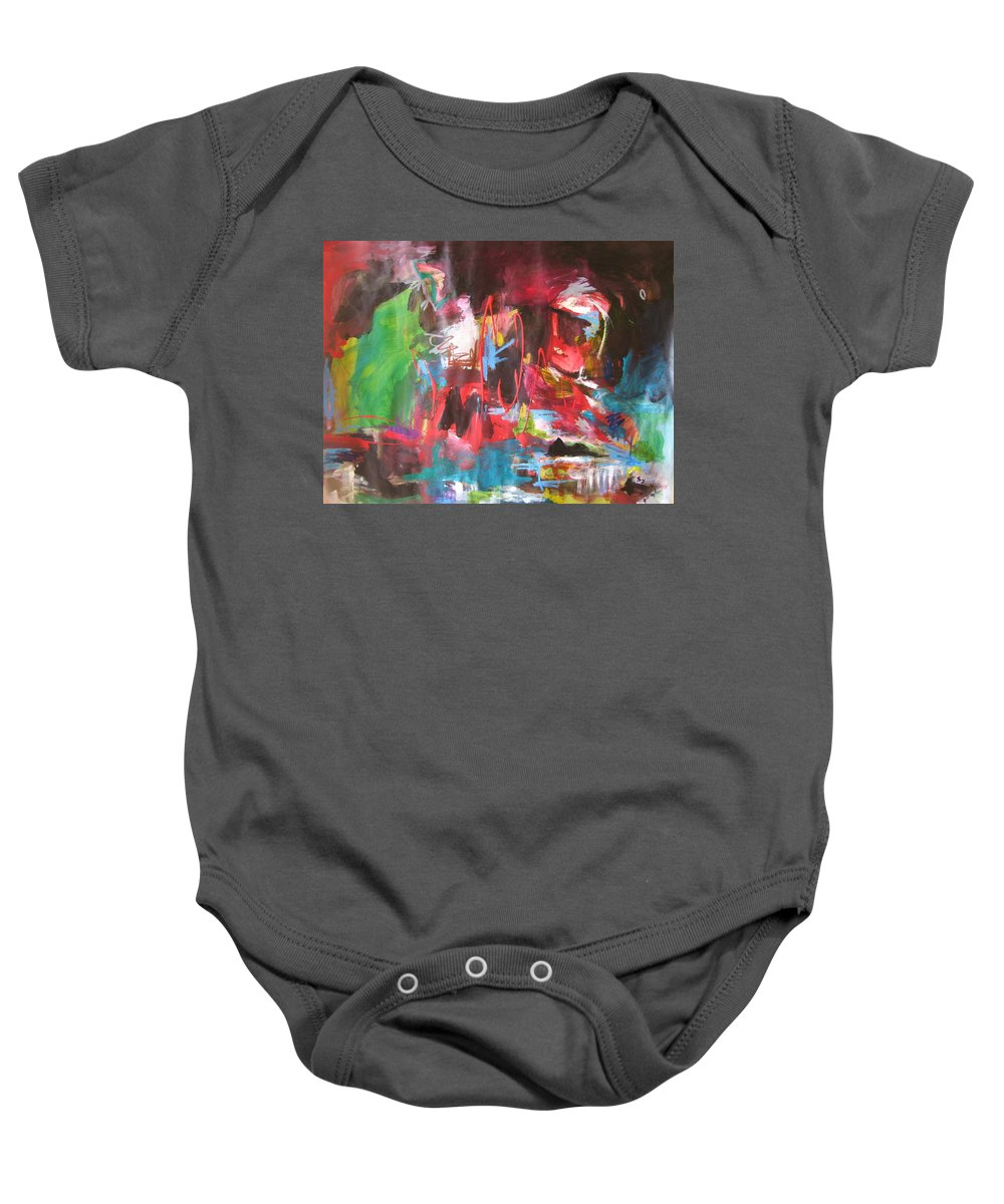 Abstract Baby Onesie featuring the painting The Ha Ha by Seon-Jeong Kim