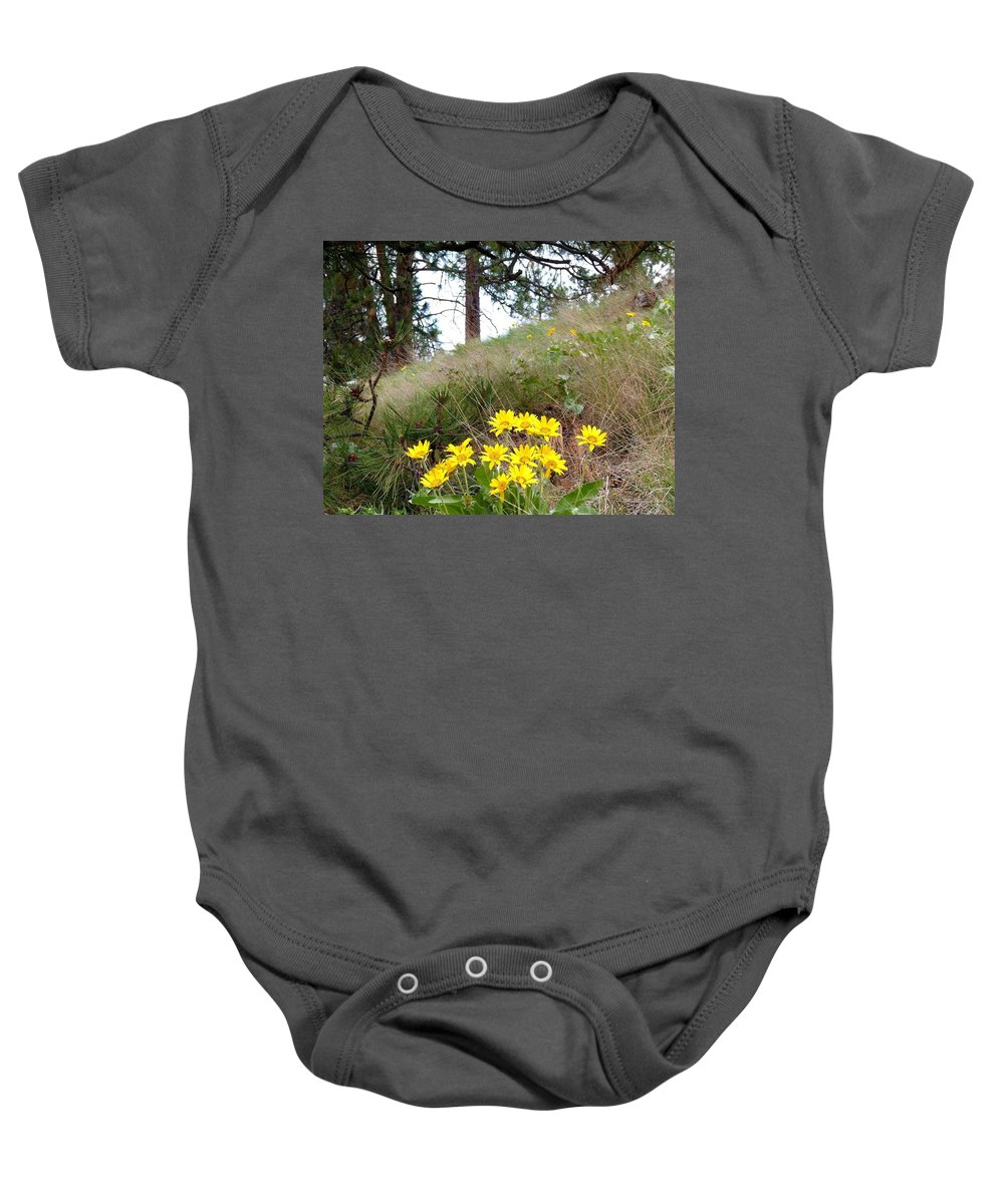 The Hillsides Are Alive Baby Onesie featuring the photograph The Hillsides Are Alive by Will Borden