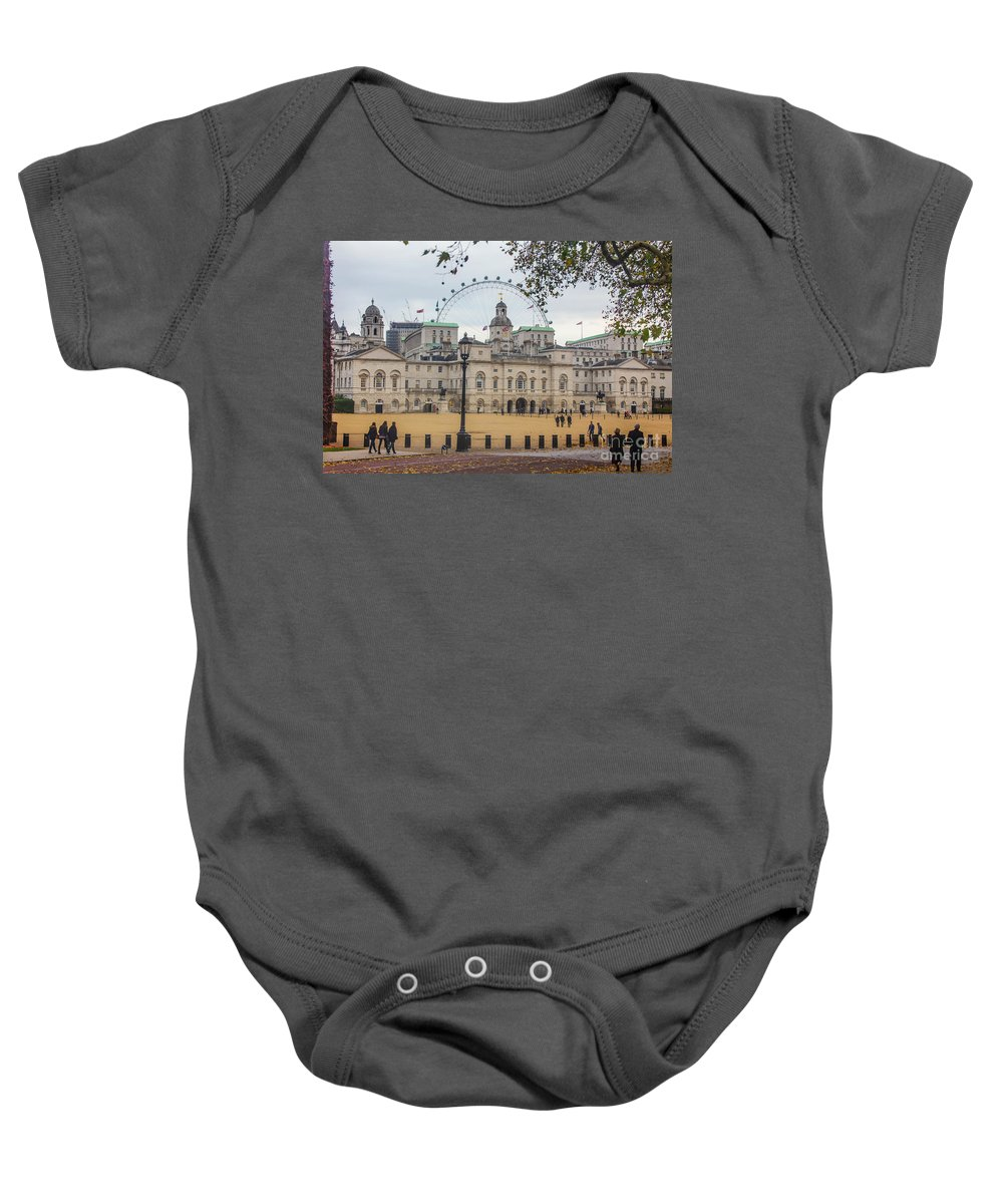 The Household Cavalry Museum Baby Onesie featuring the photograph The Household Cavalry Museum London by Alex Art and Photo