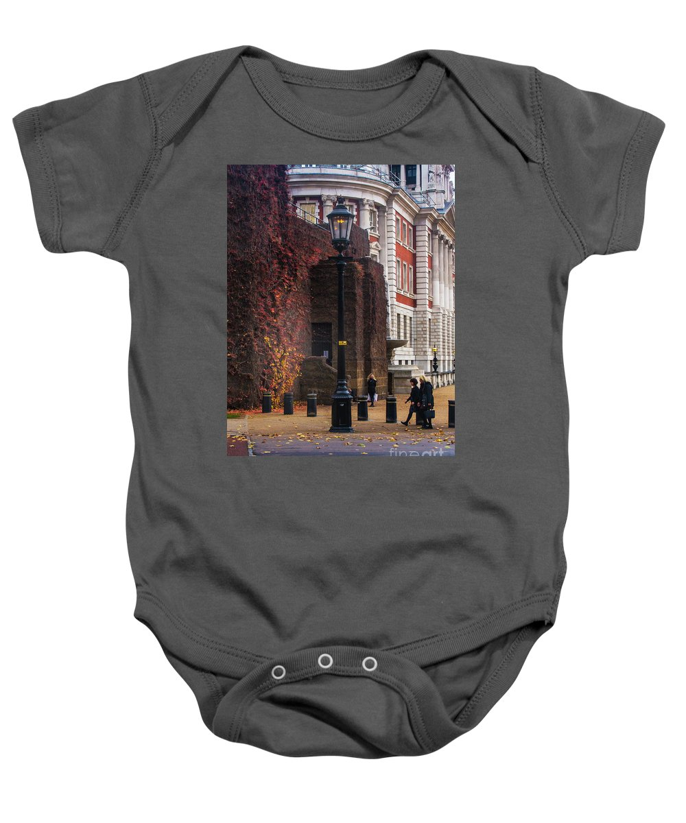 National Gallery London Baby Onesie featuring the photograph The Household Cavalry Museum London 7 by Alex Art and Photo