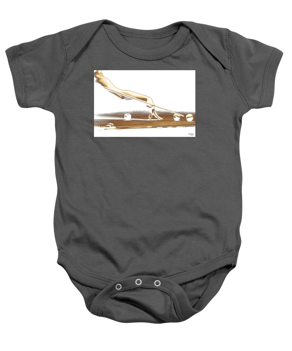 Abstract Baby Onesie featuring the photograph The Hustler by Holly Kempe