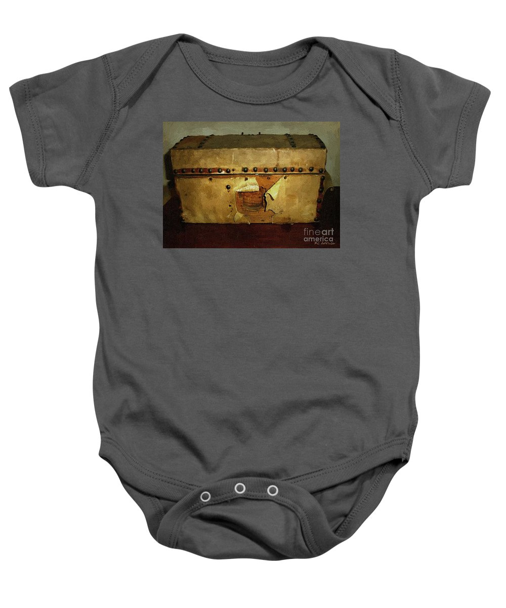 Americana Baby Onesie featuring the painting The Keepsake Chest by RC DeWinter