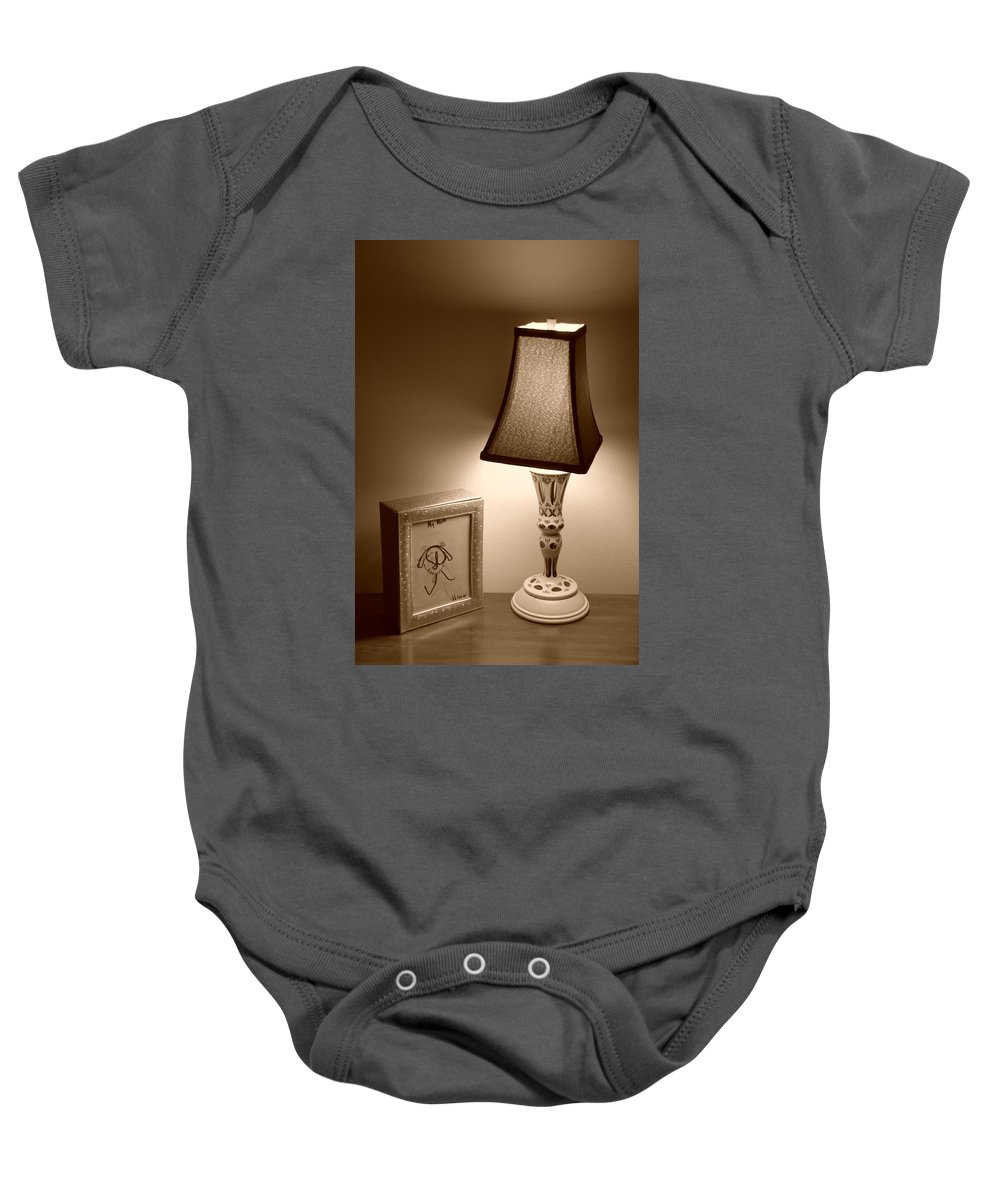 Lights Baby Onesie featuring the photograph The Lamp by Rob Hans