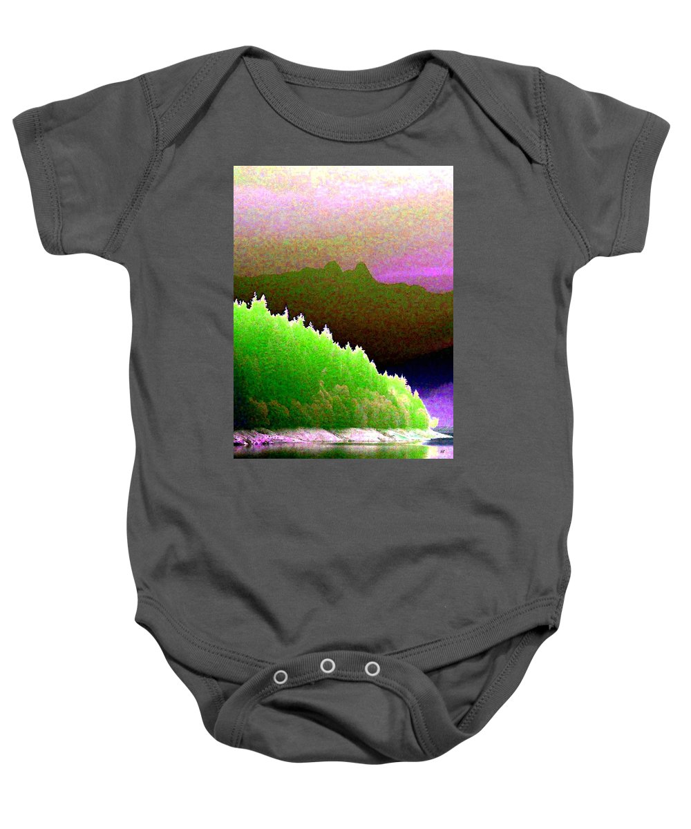 The Lions Baby Onesie featuring the digital art The Lions by Will Borden