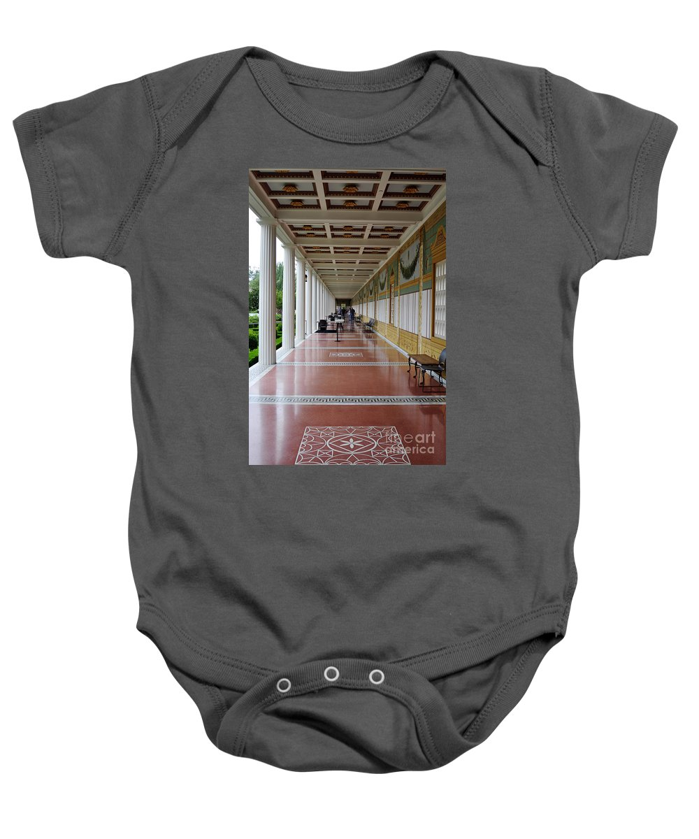 Clay Baby Onesie featuring the photograph The Long Walk by Clayton Bruster