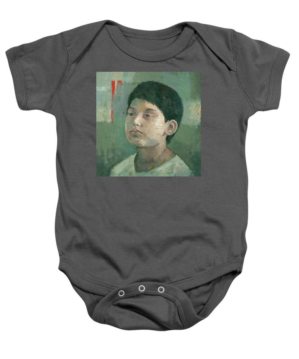 Painting Baby Onesie featuring the painting The Lost Prince by Steve Mitchell