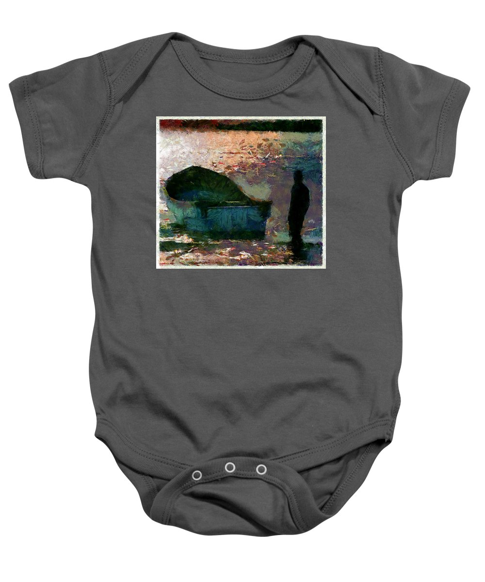 Boat Baby Onesie featuring the photograph The Man And His Fishing Boat by Galeria Trompiz