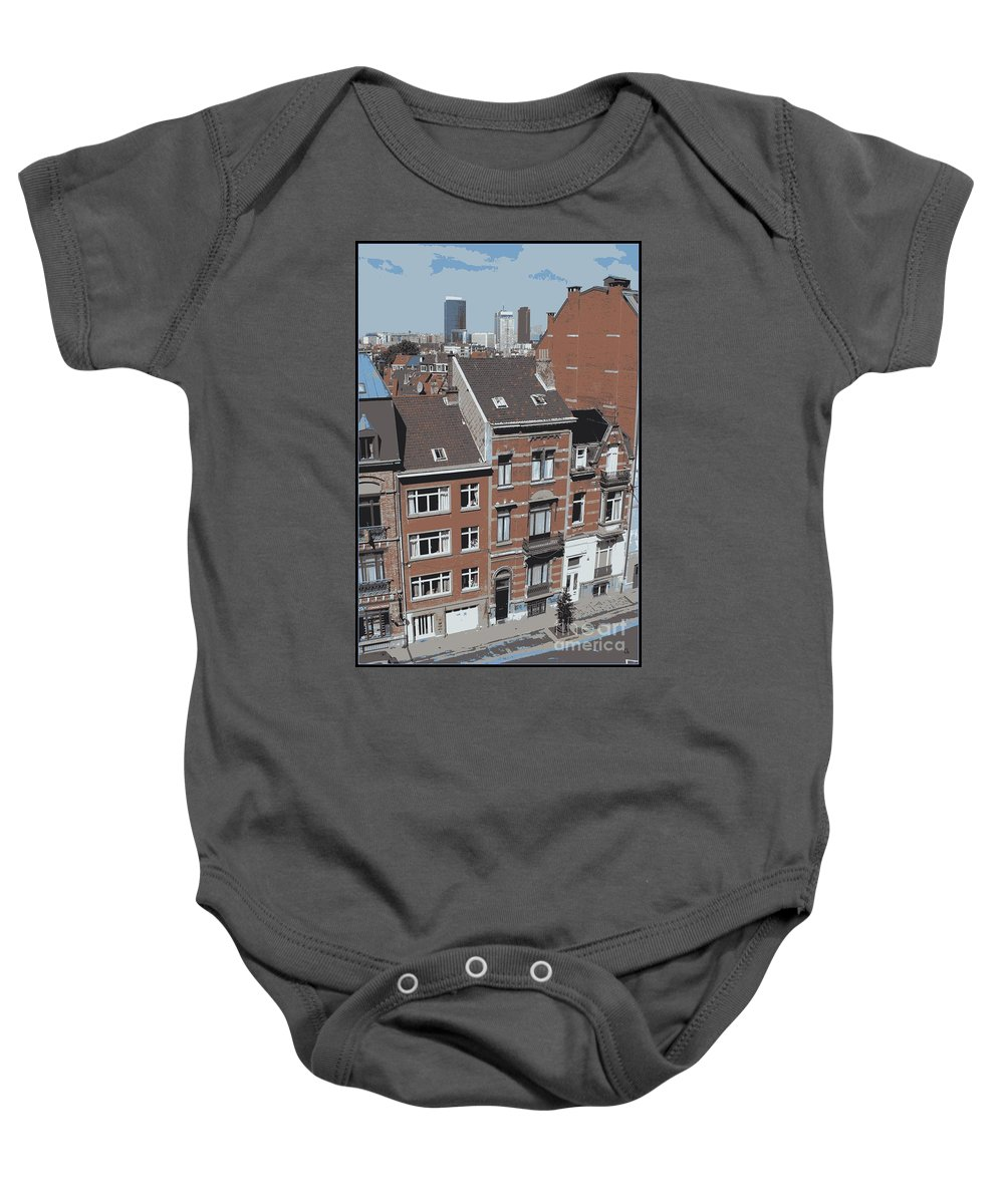 Brussels Baby Onesie featuring the photograph The Many Layers Of Brussels by Carol Groenen