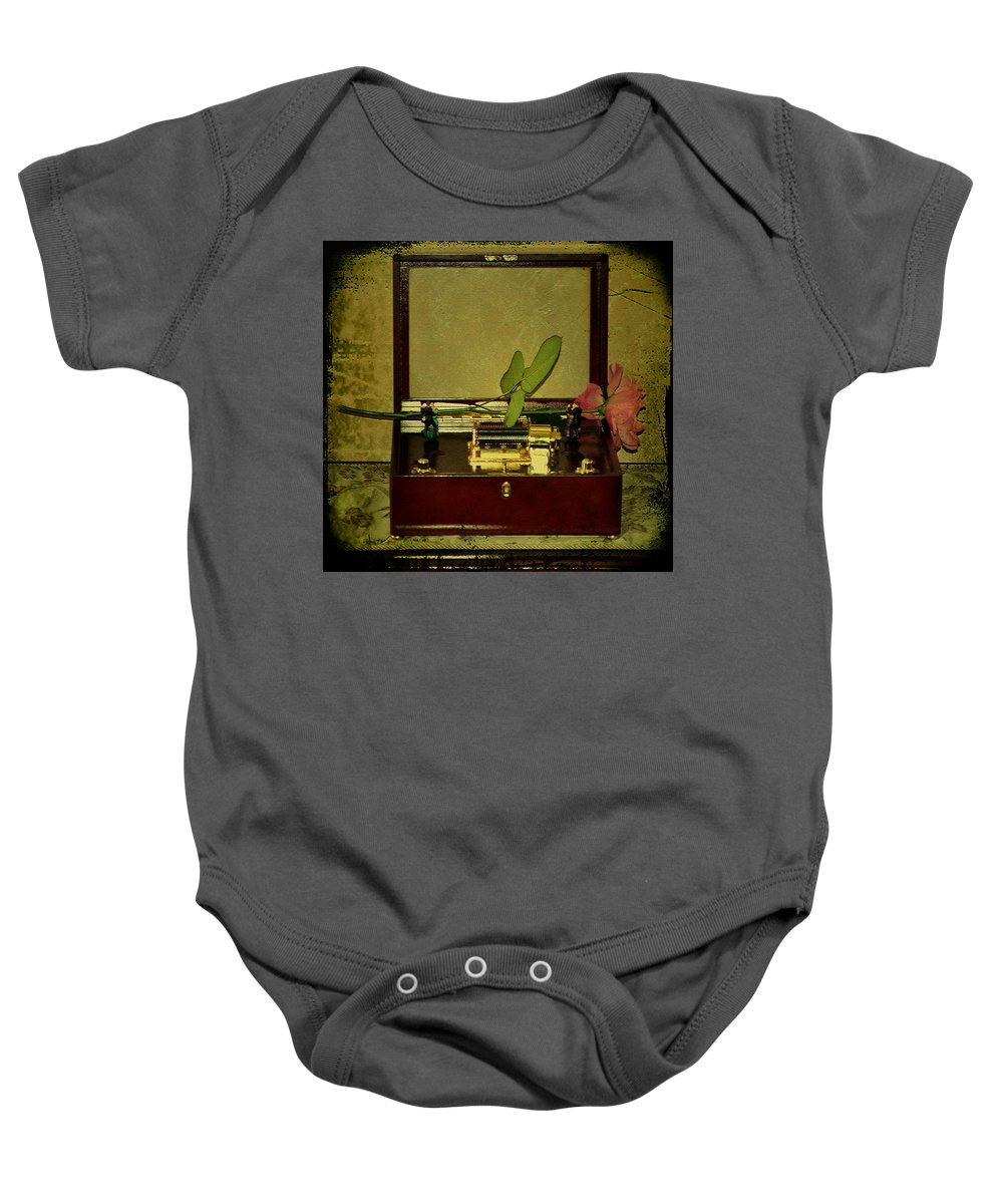 Music Box Baby Onesie featuring the photograph The Music Box by Bill Cannon