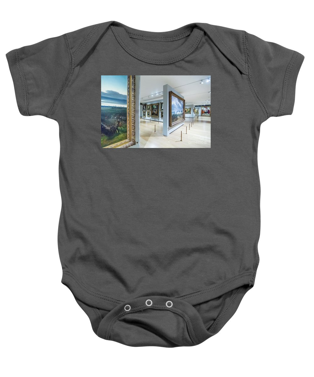 National Gallery London Baby Onesie featuring the photograph The National Gallery London 6 by Alex Art and Photo