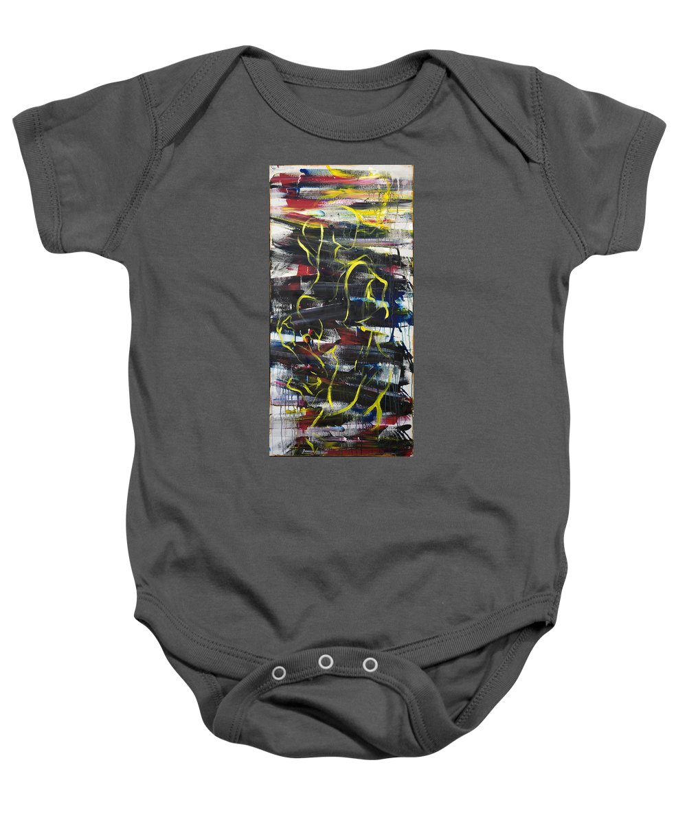Black Baby Onesie featuring the painting The Noose by Sheridan Furrer