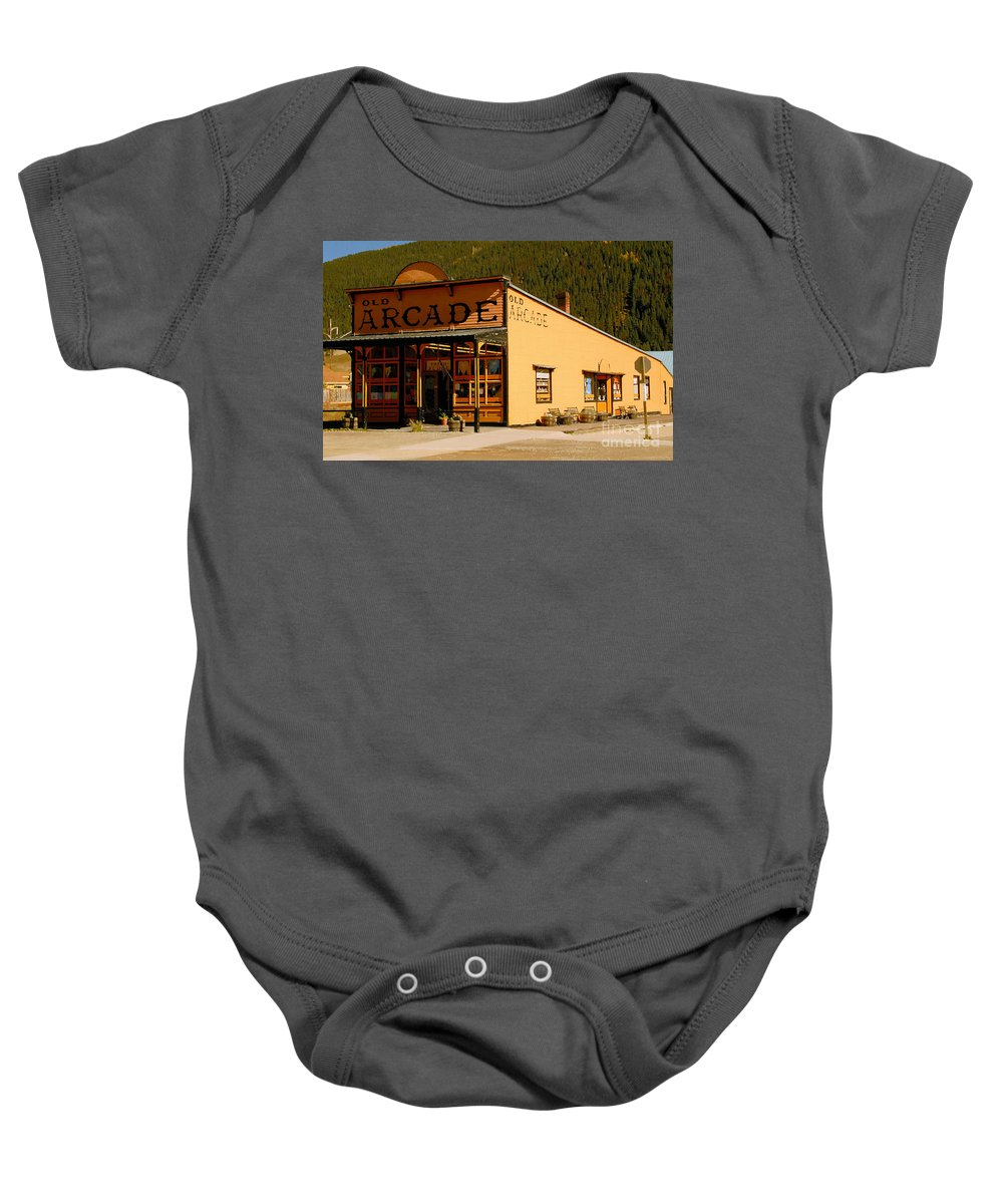 Arcade Baby Onesie featuring the photograph The Old Arcade by David Lee Thompson