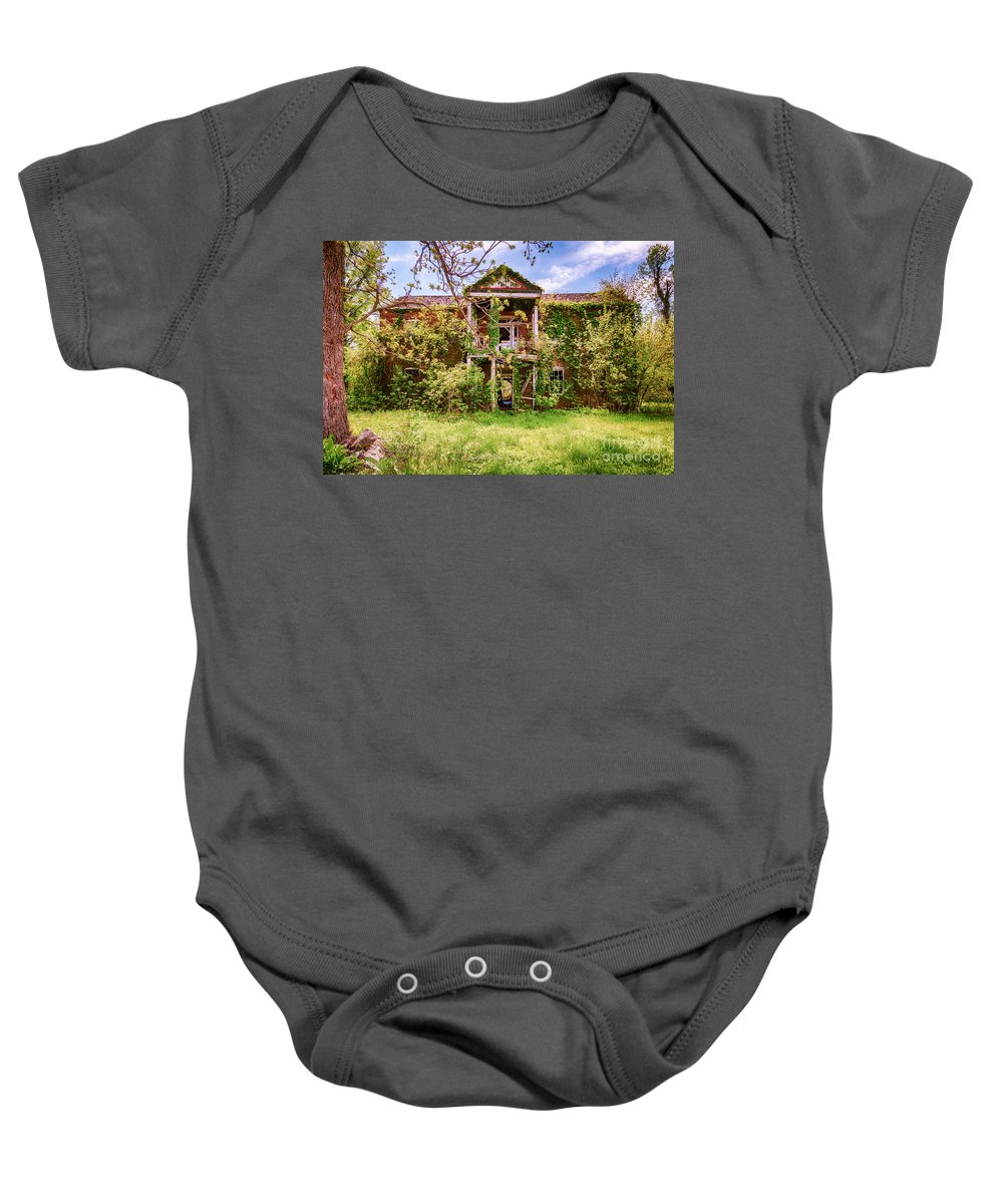 Old House Baby Onesie featuring the photograph The Old Homestead by Terri Morris
