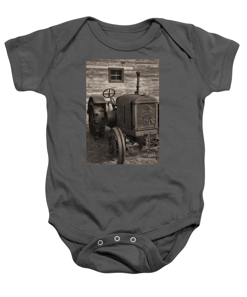 Abandoned Baby Onesie featuring the photograph The Old Mule by Richard Rizzo