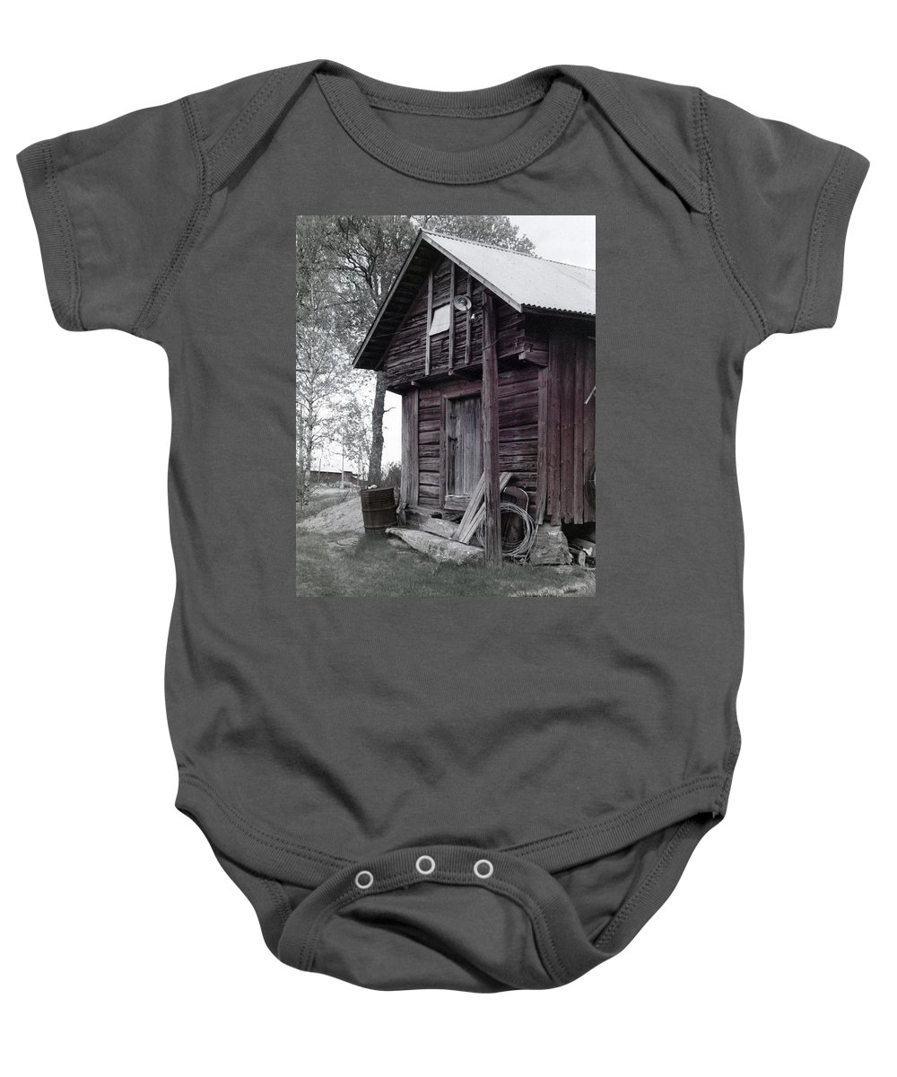House Baby Onesie featuring the photograph The Old Red House 11x14 by Randall Thomas Stone