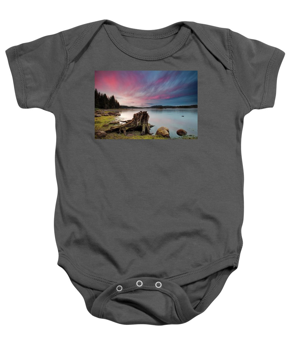 Dawn Baby Onesie featuring the photograph The Old Trunk by Evgeni Dinev