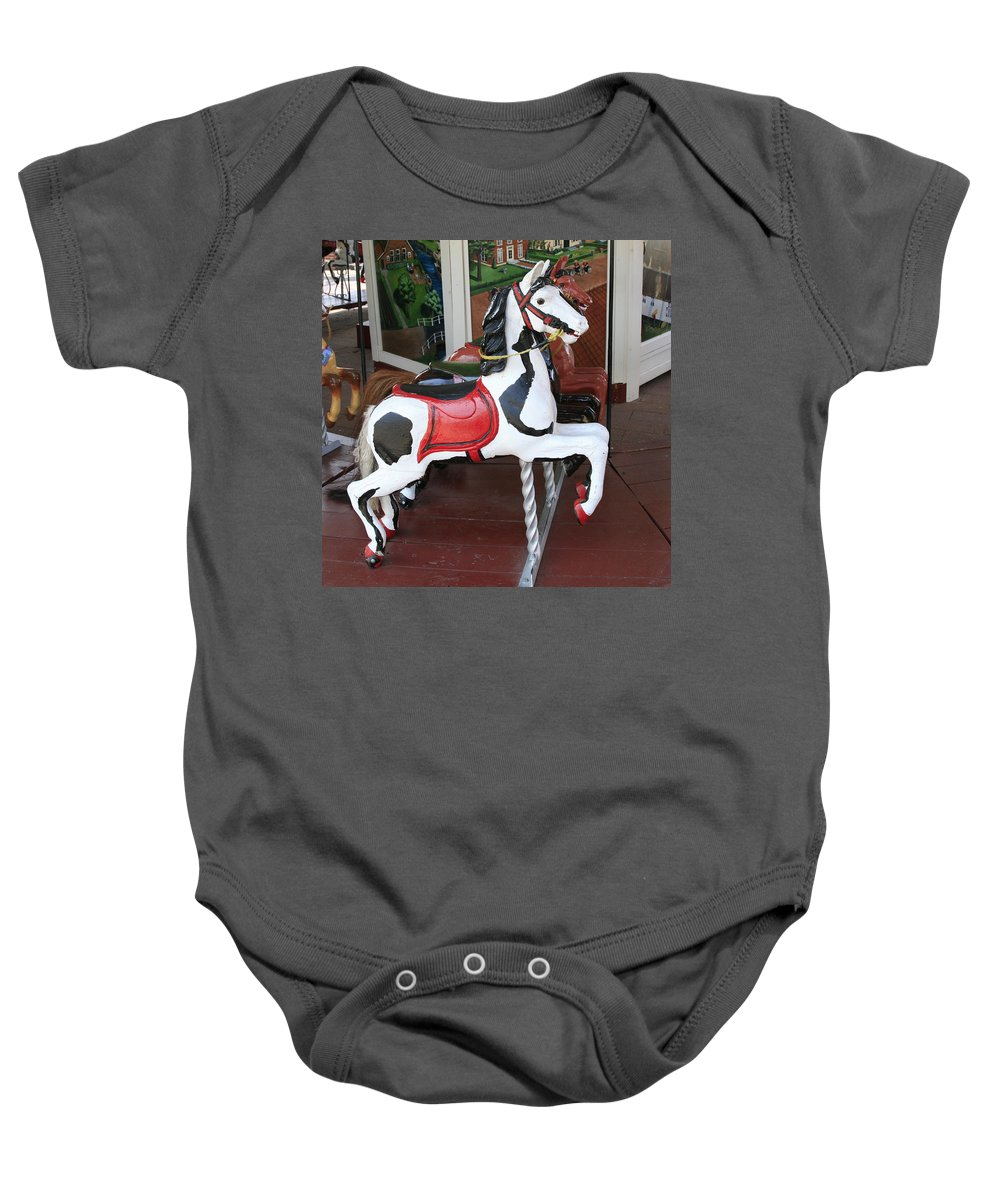 Horse Baby Onesie featuring the photograph The Painted Horse by Robert Pearson